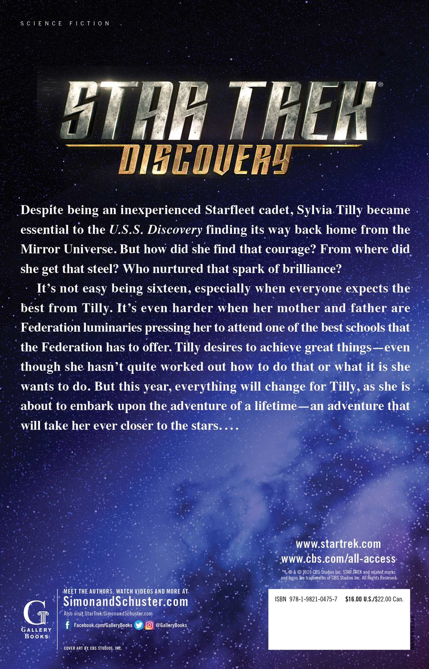 Star trek discovery the way to the stars 9781982104757 hr back