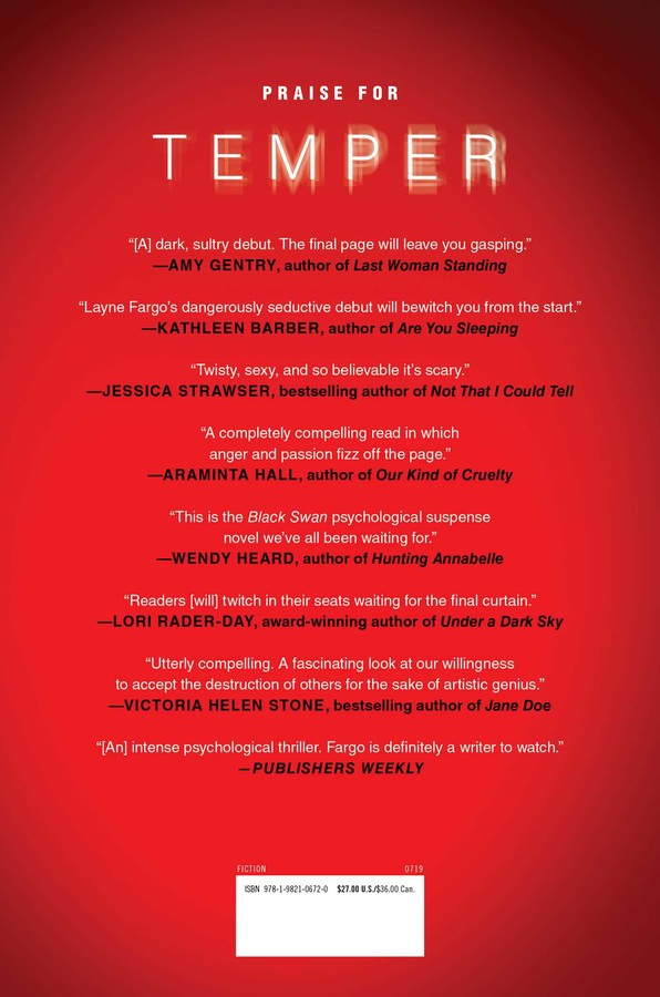 Temper | Book by Layne Fargo | Official Publisher Page | Simon