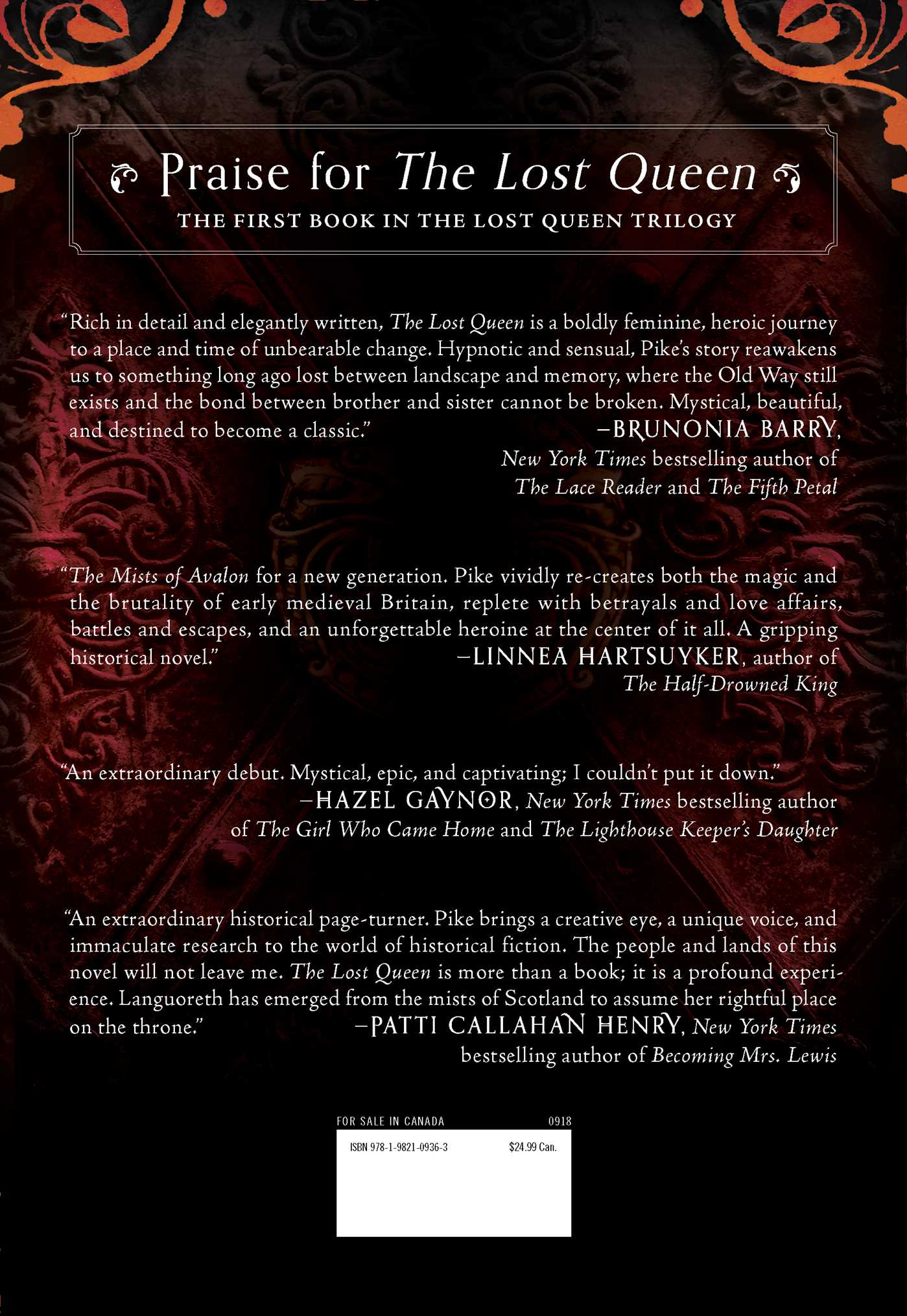 The lost queen 9781982109363 hr back