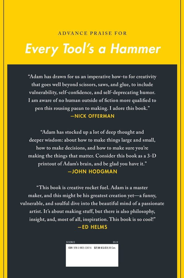 Every Tool's a Hammer | Book by Adam Savage | Official