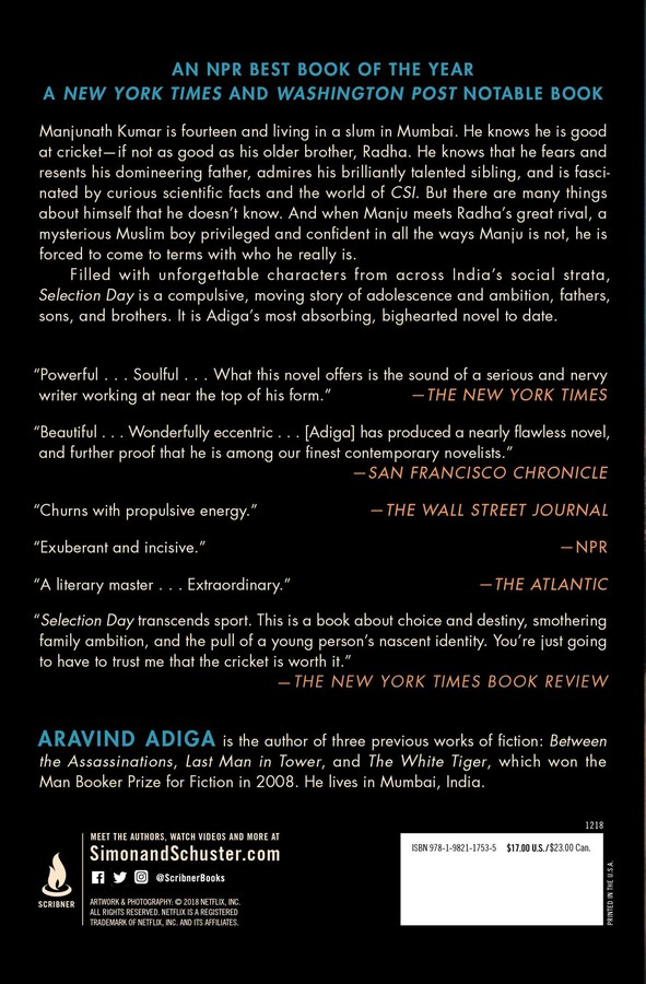 Selection Day | Book by Aravind Adiga | Official Publisher Page