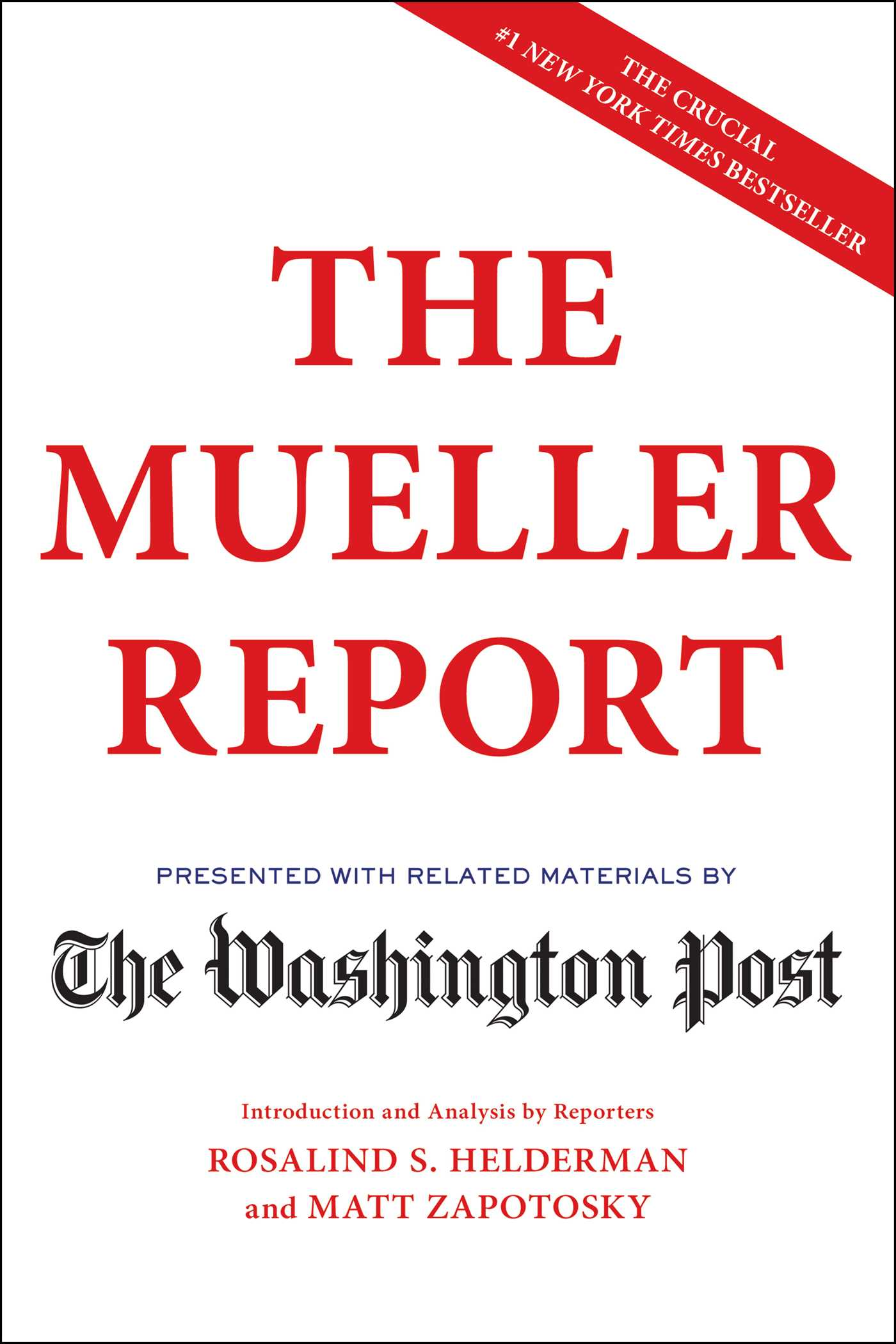 The Mueller Report Book By The Washington Post