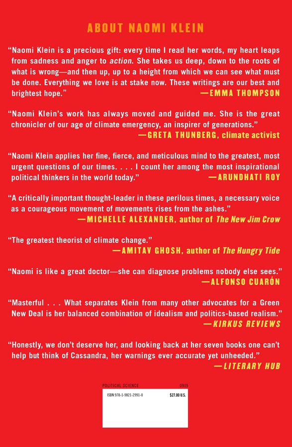 On Fire   Book by Naomi Klein   Official Publisher Page