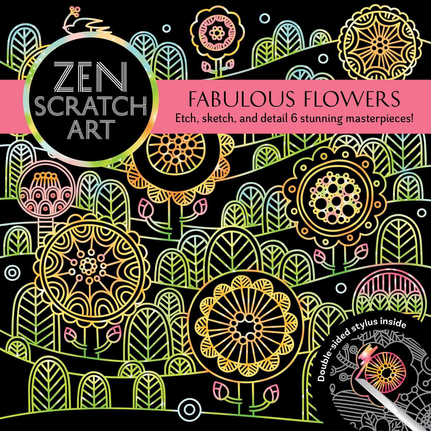 Zen Scratch Art Fabulous Flowers 9784056210750 Hr
