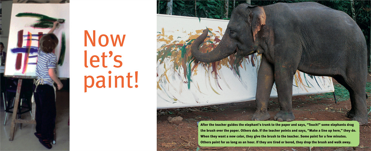 Elephants can paint too! 9780689869853.in02