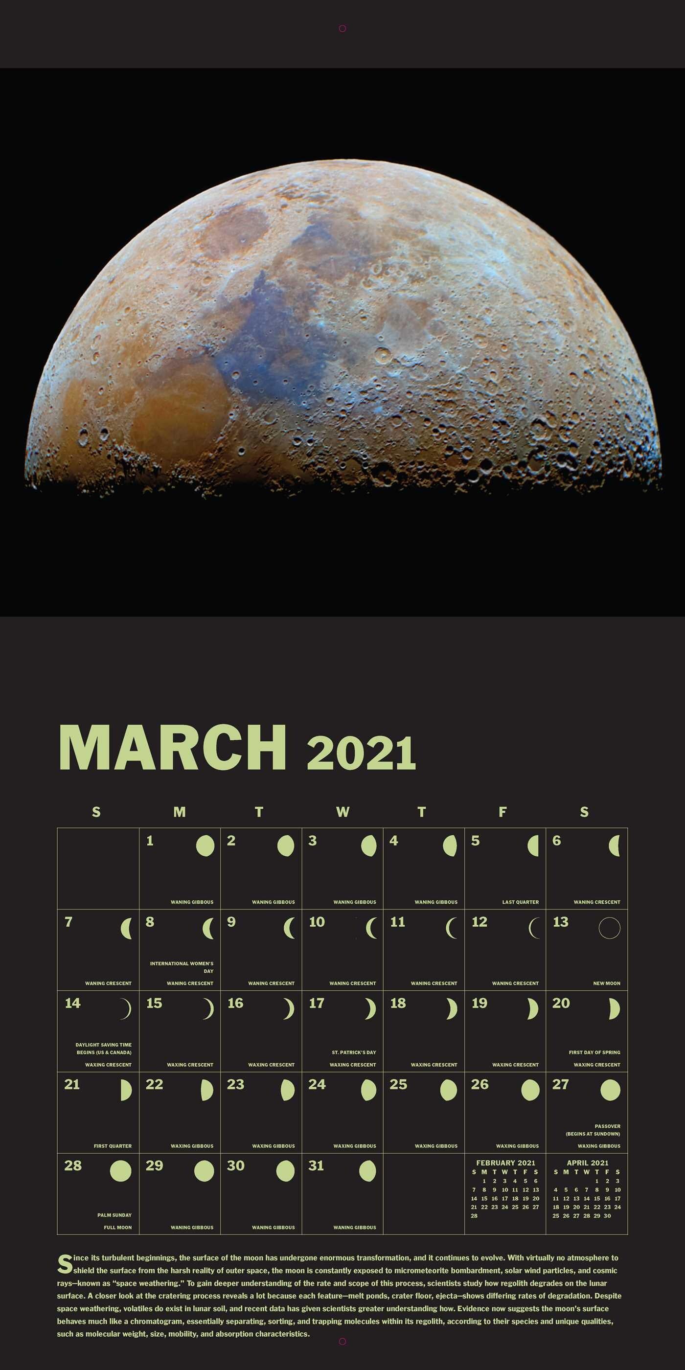 Lunar 2021 Wall Calendar - Book Summary & Video | Official ...