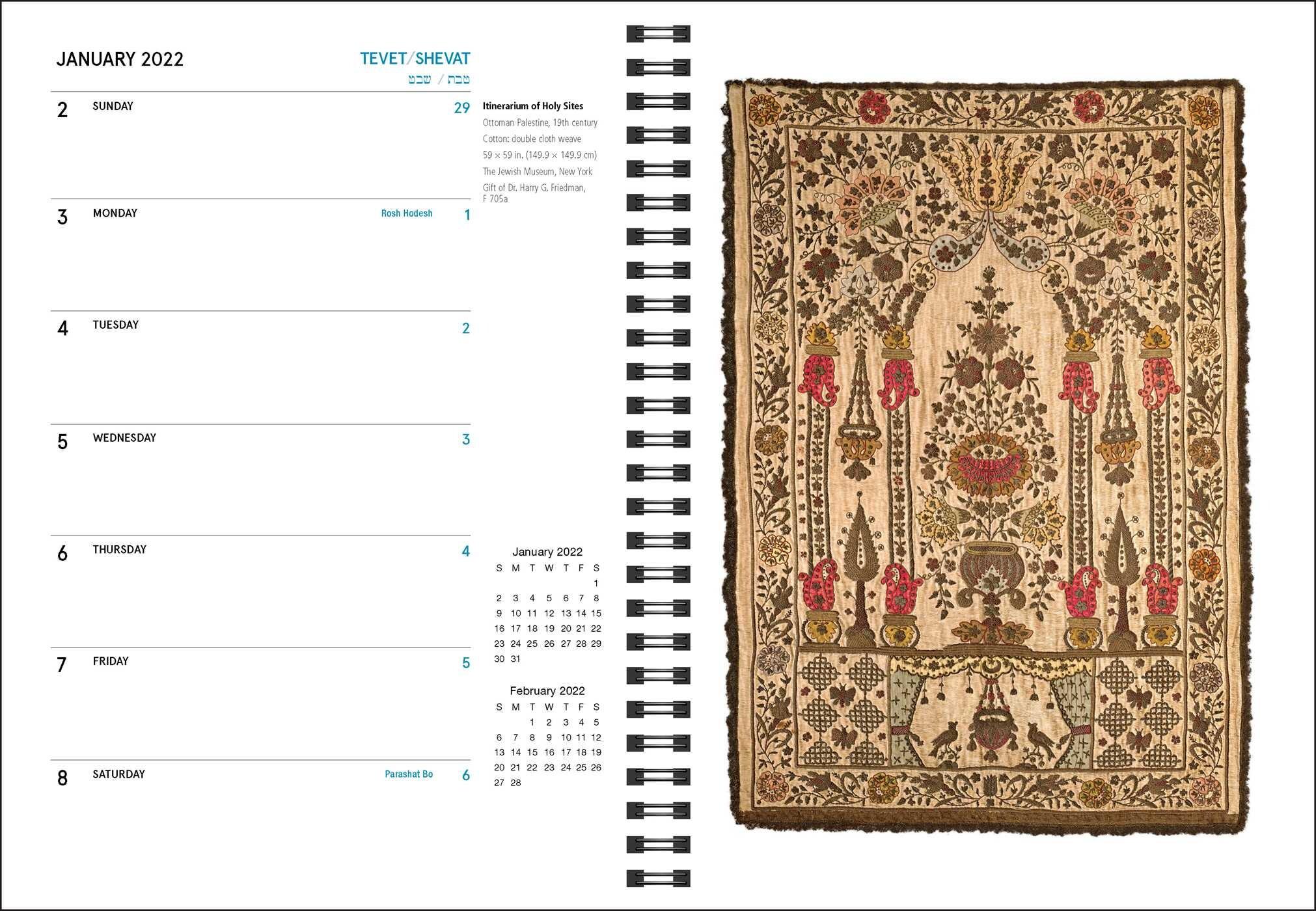 Torah Portion Calendar 2022.The Jewish Calendar 16 Month 2021 2022 Engagement Calendar Book Summary Video Official Publisher Page Simon Schuster
