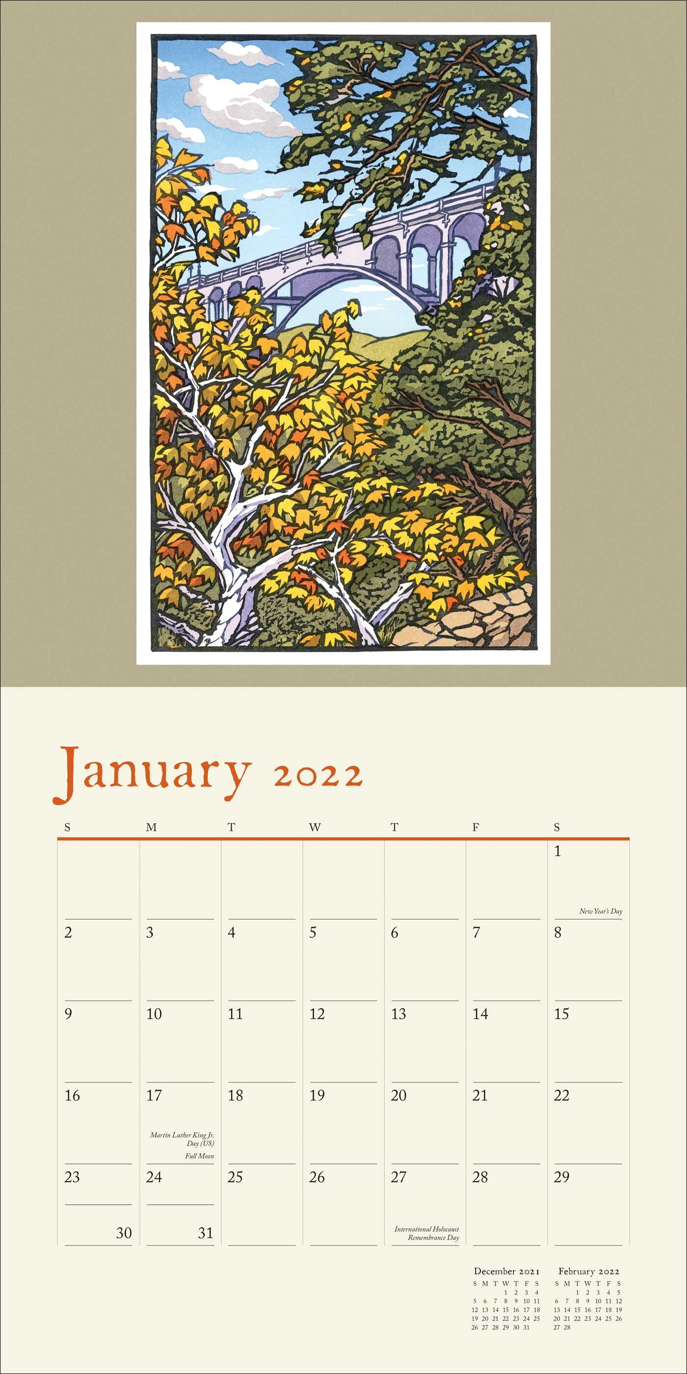 University Of Maryland Calendar 2022.Natural Art Japanese Blockprints 2022 Wall Calendar Book Summary Video Official Publisher Page Simon Schuster