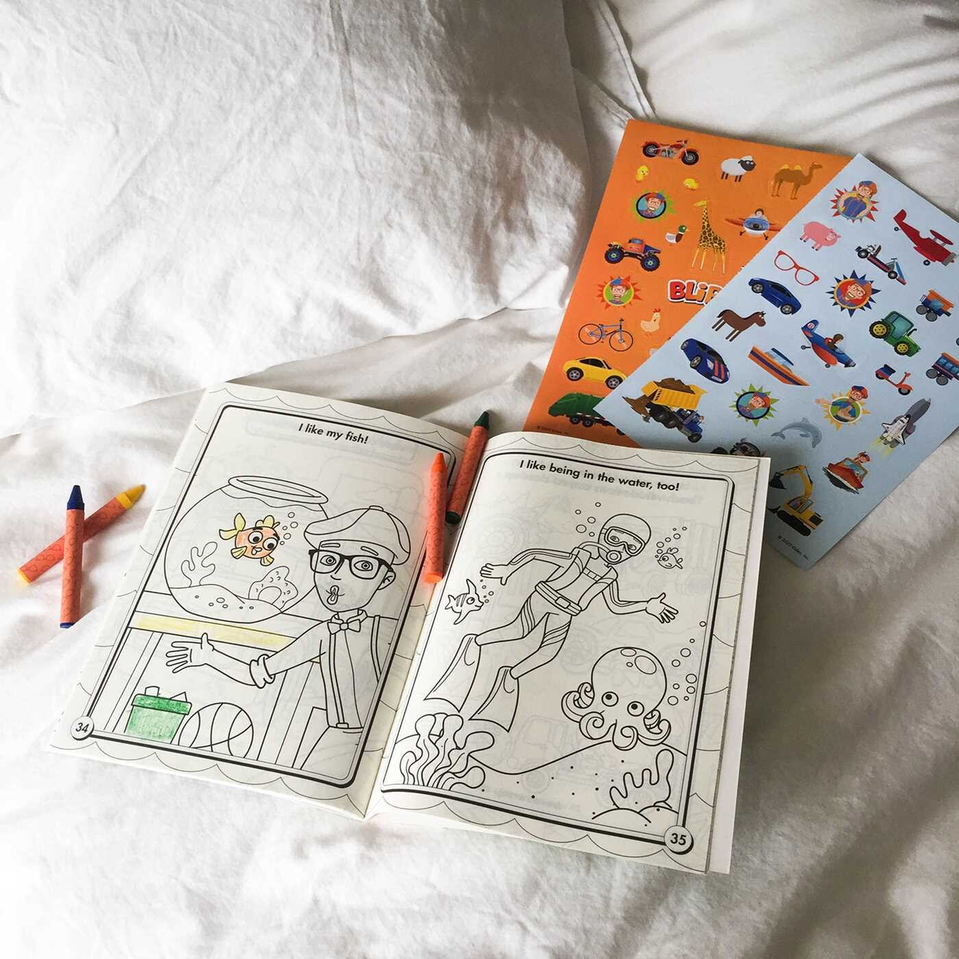 Blippi: I Like That! Coloring Book with Crayons | Book by ...