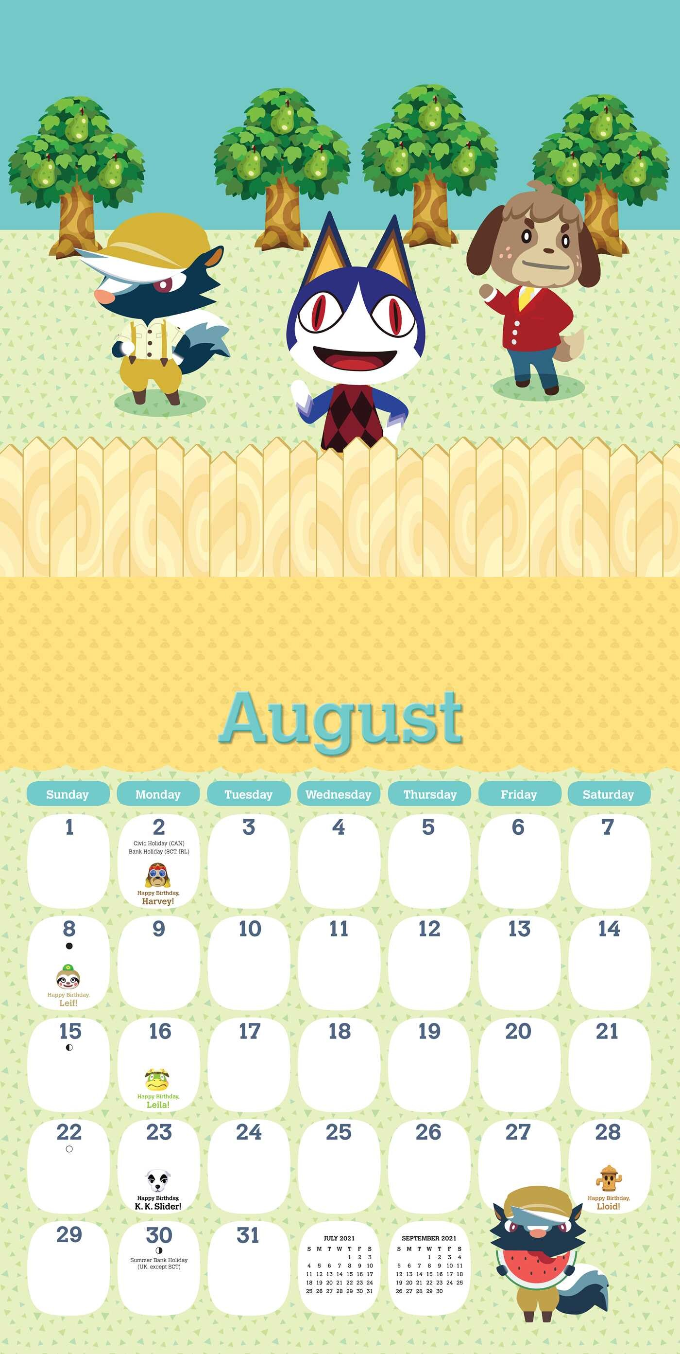Animal Crossing 2021 Wall Calendar   Book Summary & Video