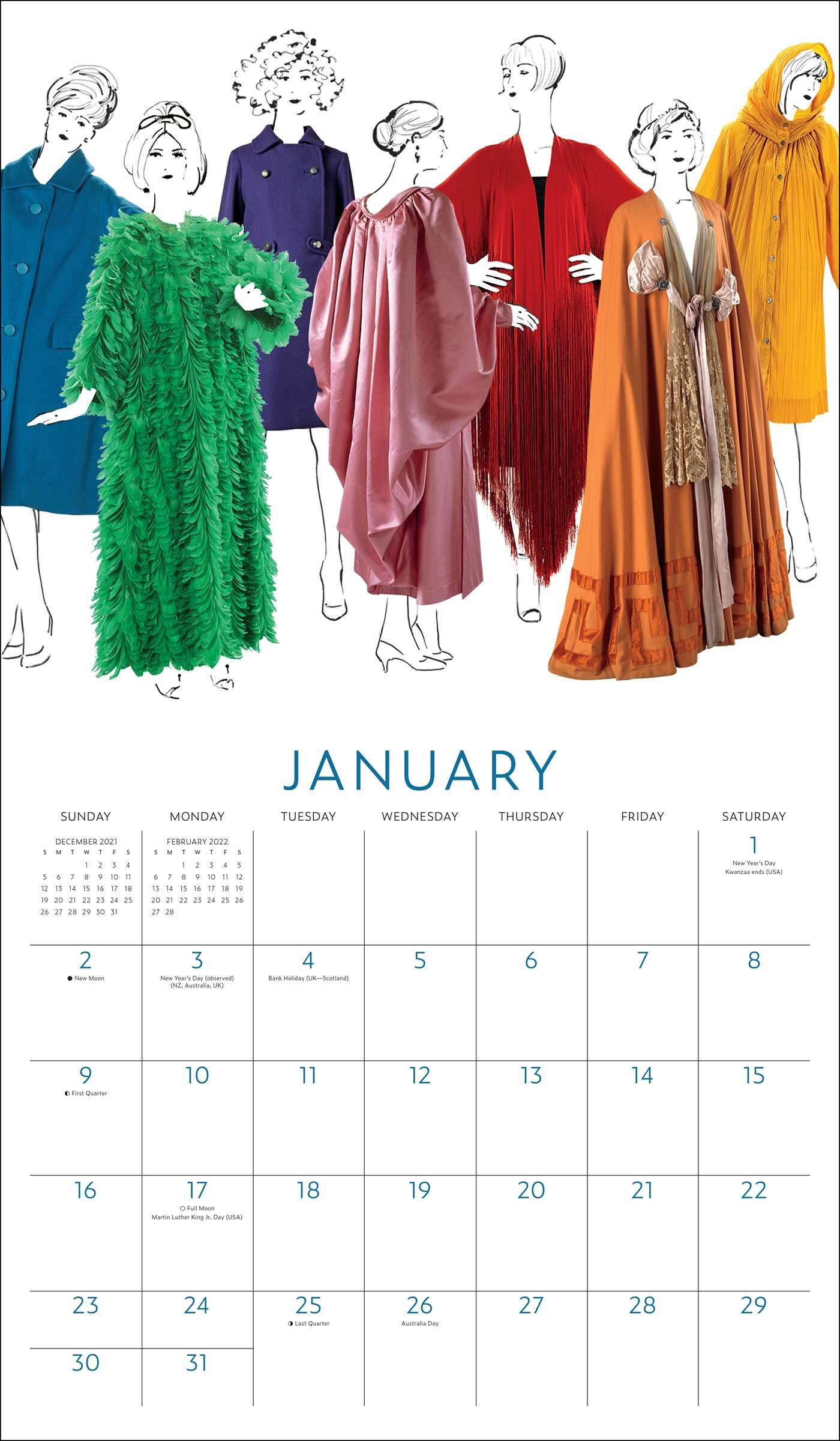 Ball State Calendar 2022.Fashion And The Costume Institute 75th Anniversary 2022 Wall Calendar Book Summary Video Official Publisher Page Simon Schuster
