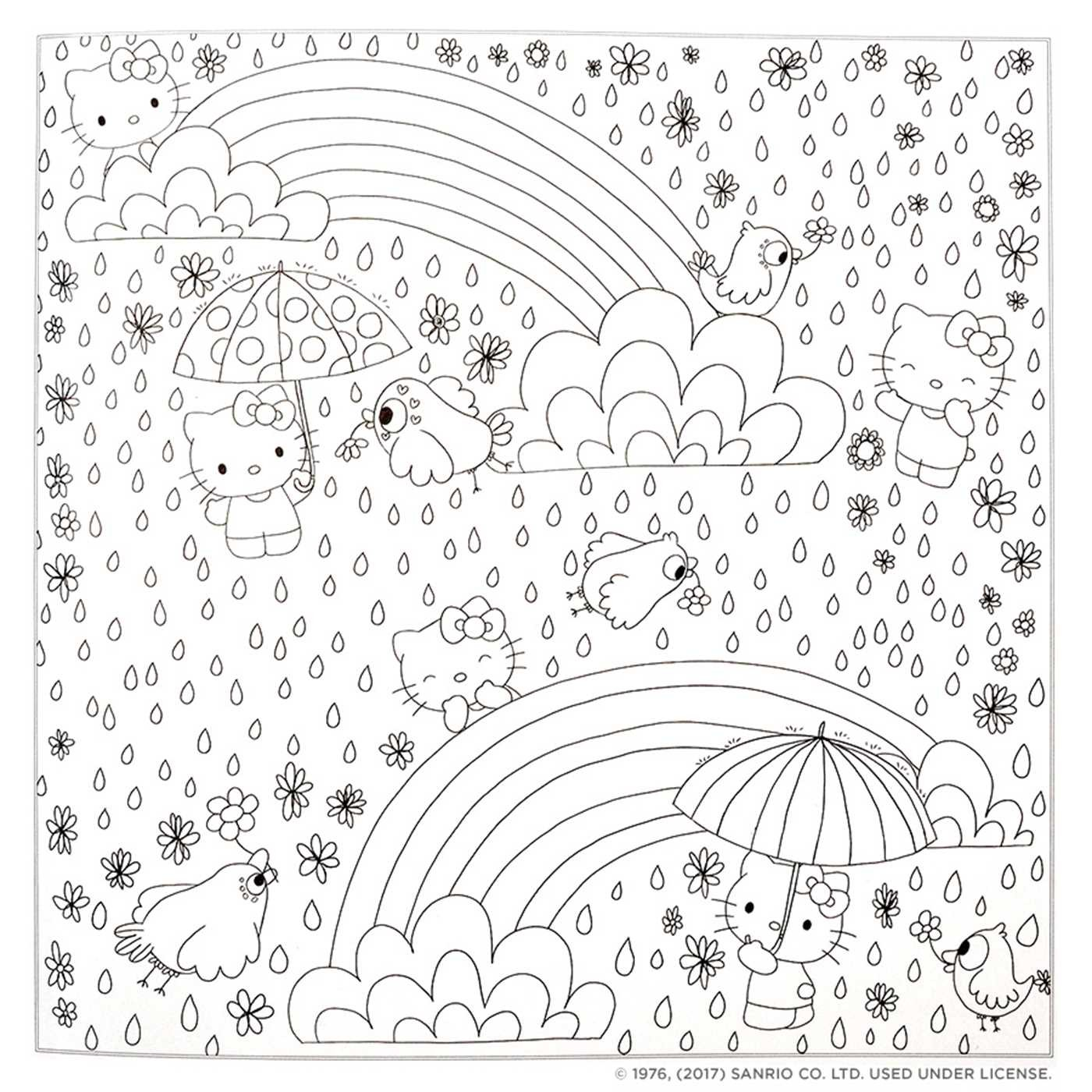 Hello Kitty Friends Coloring Book 9781421592749in03