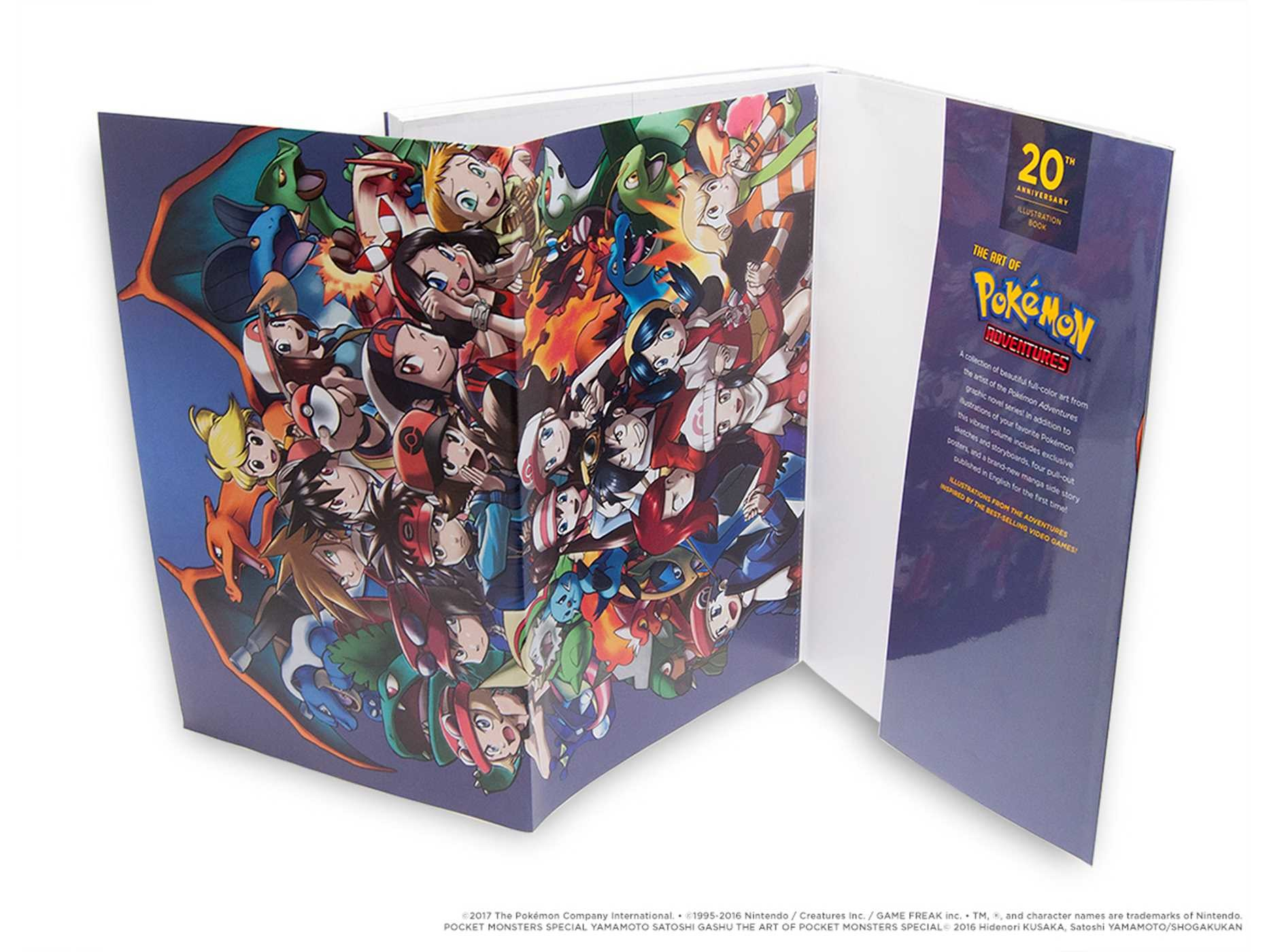 Pokemon adventures 20th anniversary illustration book 9781421594514.in03