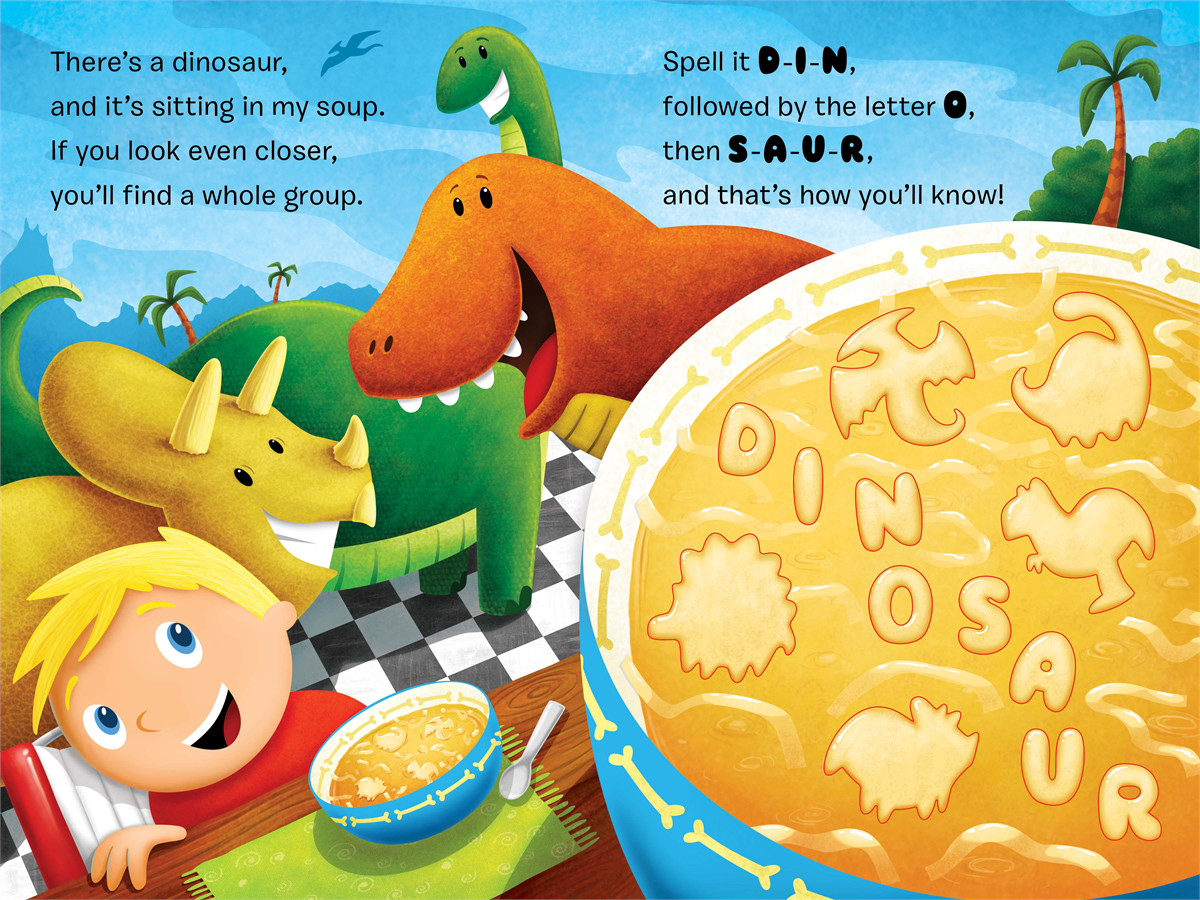 Theres a dinosaur in my soup! 9781442446106.in01