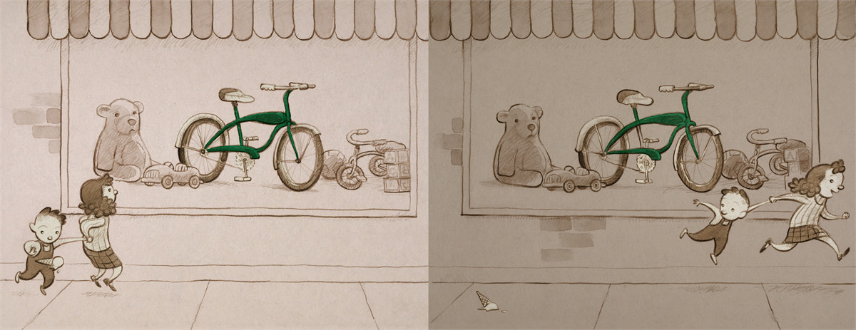 The Girl And The Bicycle Book By Mark Pett Official