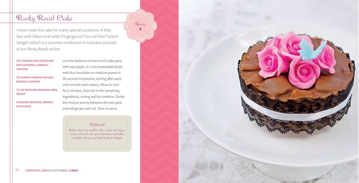 4 ingredients chocolate cakes cute things 9781451635683.in06