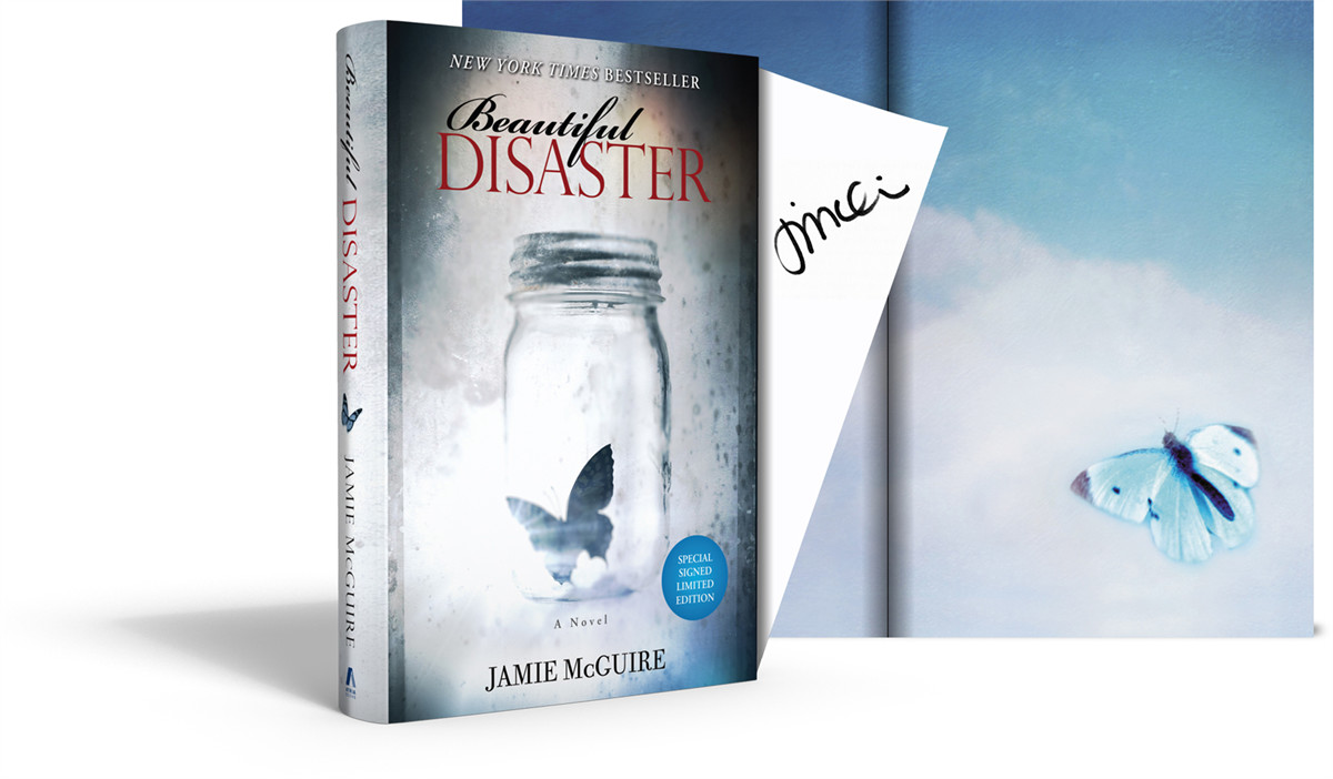 Beautiful disaster signed limited edition 9781476719078.in01