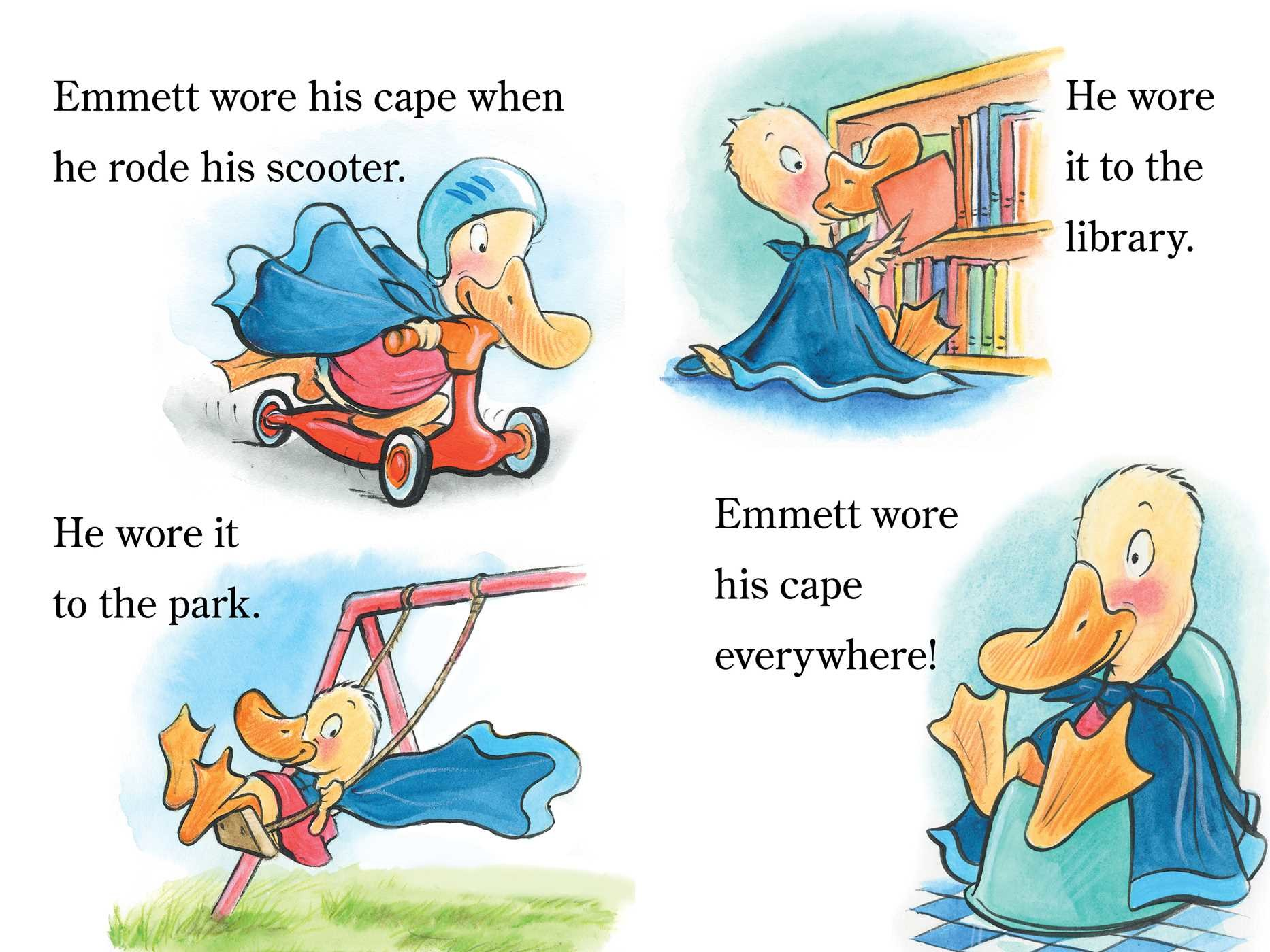 Emmett and the bright blue cape 9781481458696.in01
