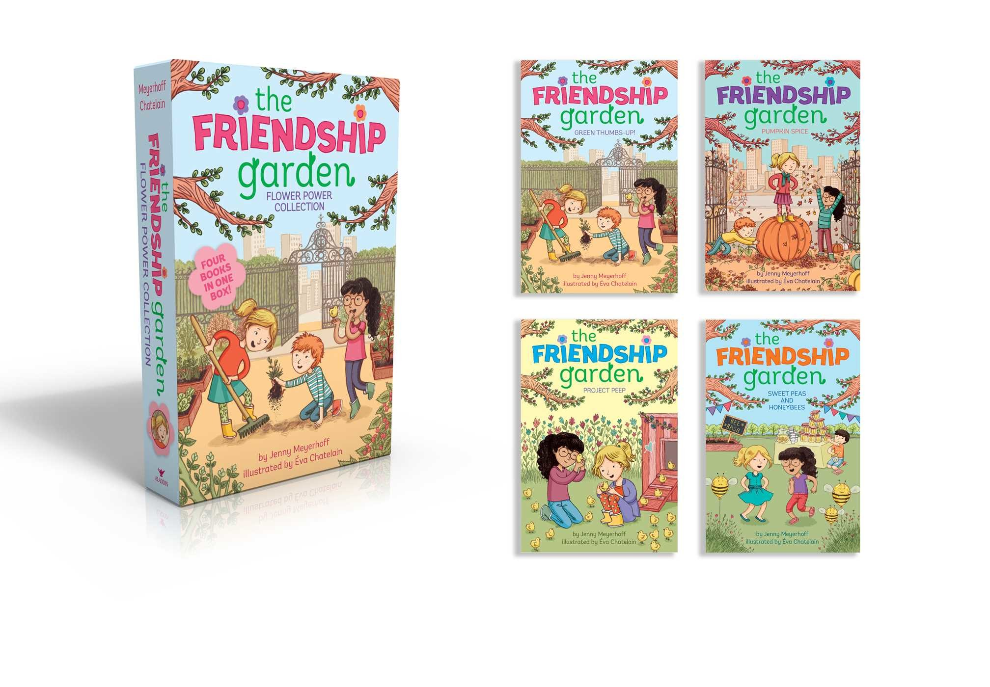 The friendship garden flower power collection books 1 4 9781481469258.in01