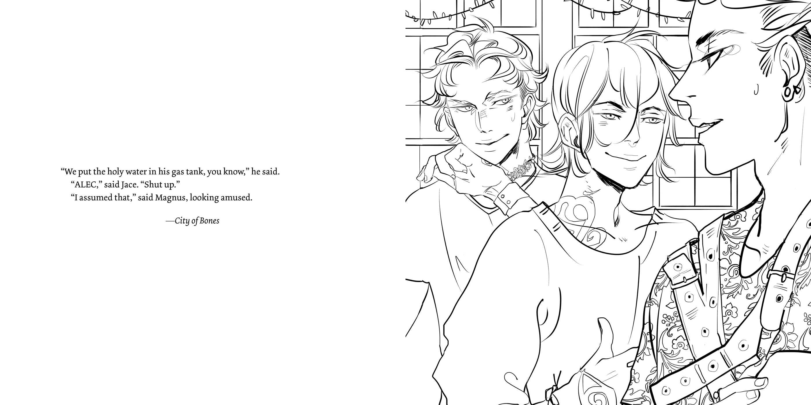 The Official Mortal Instruments Coloring Book | Book by