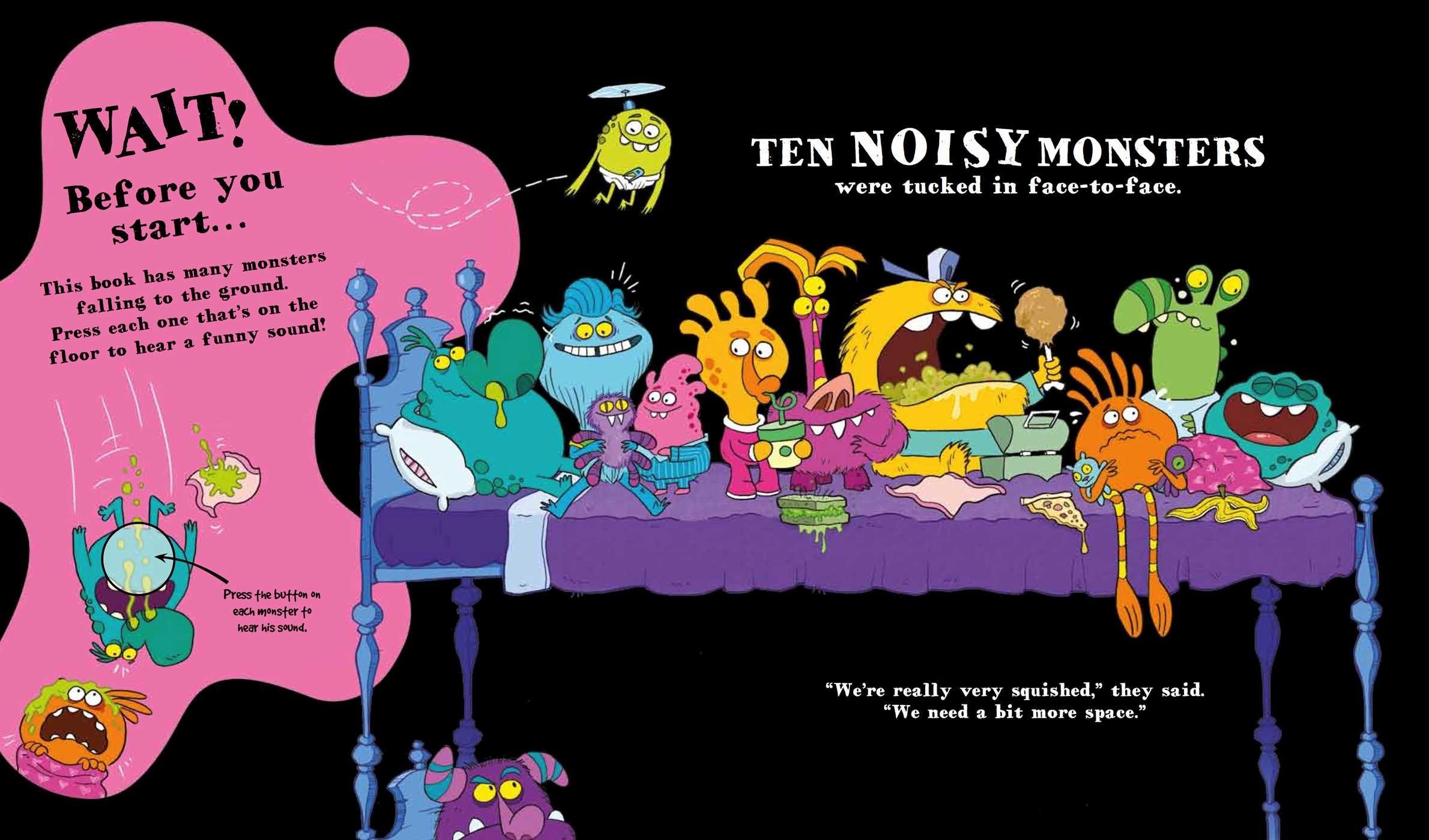 Ten Monsters In The Bed Book By Katie Cotton Aaron