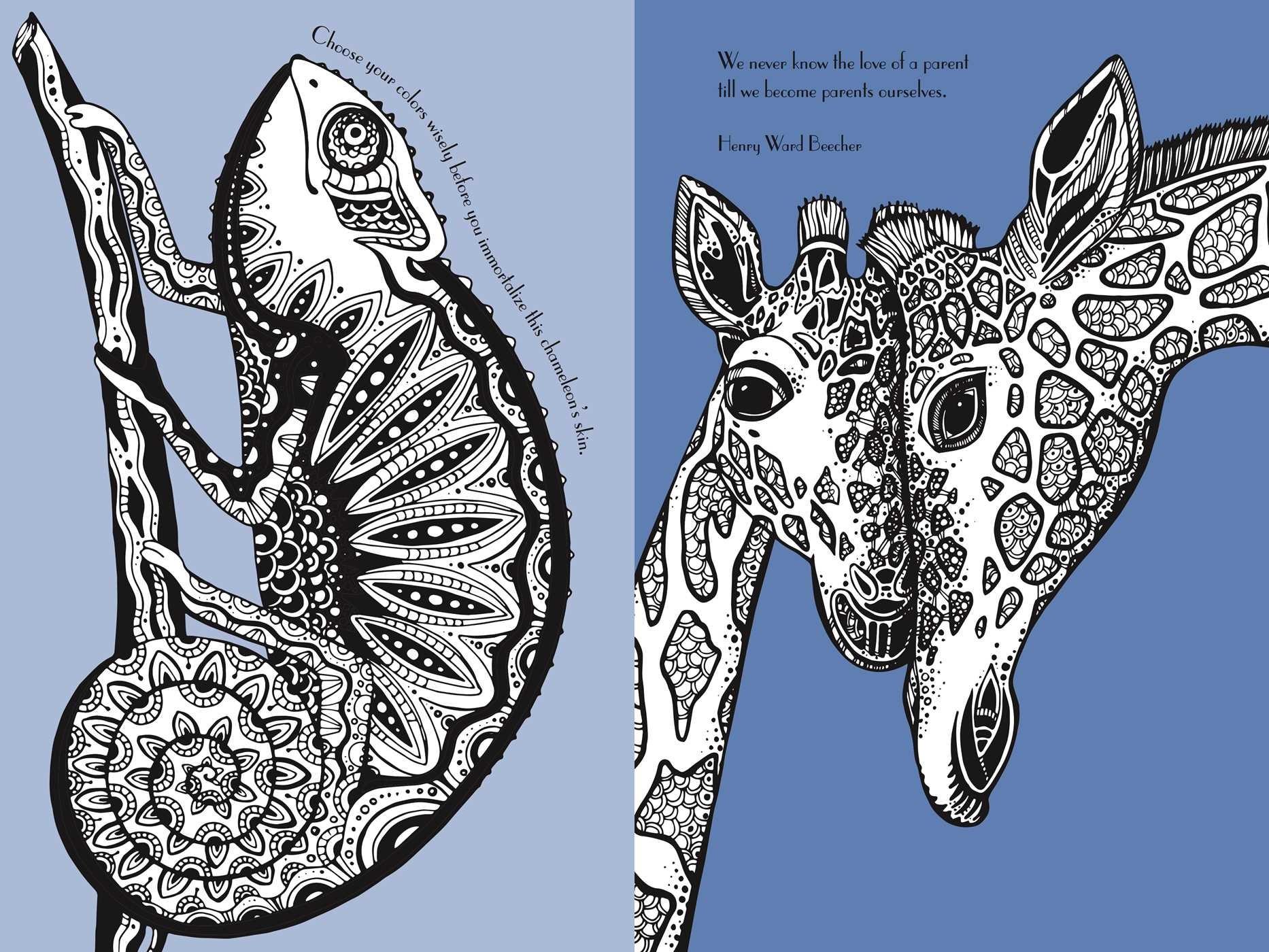Foil Art Animals Book by Little