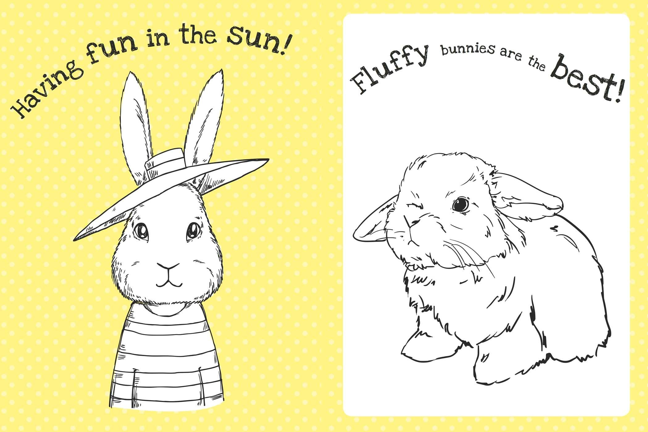 The Too Cute Coloring Book Bunnies 9781499804683in02