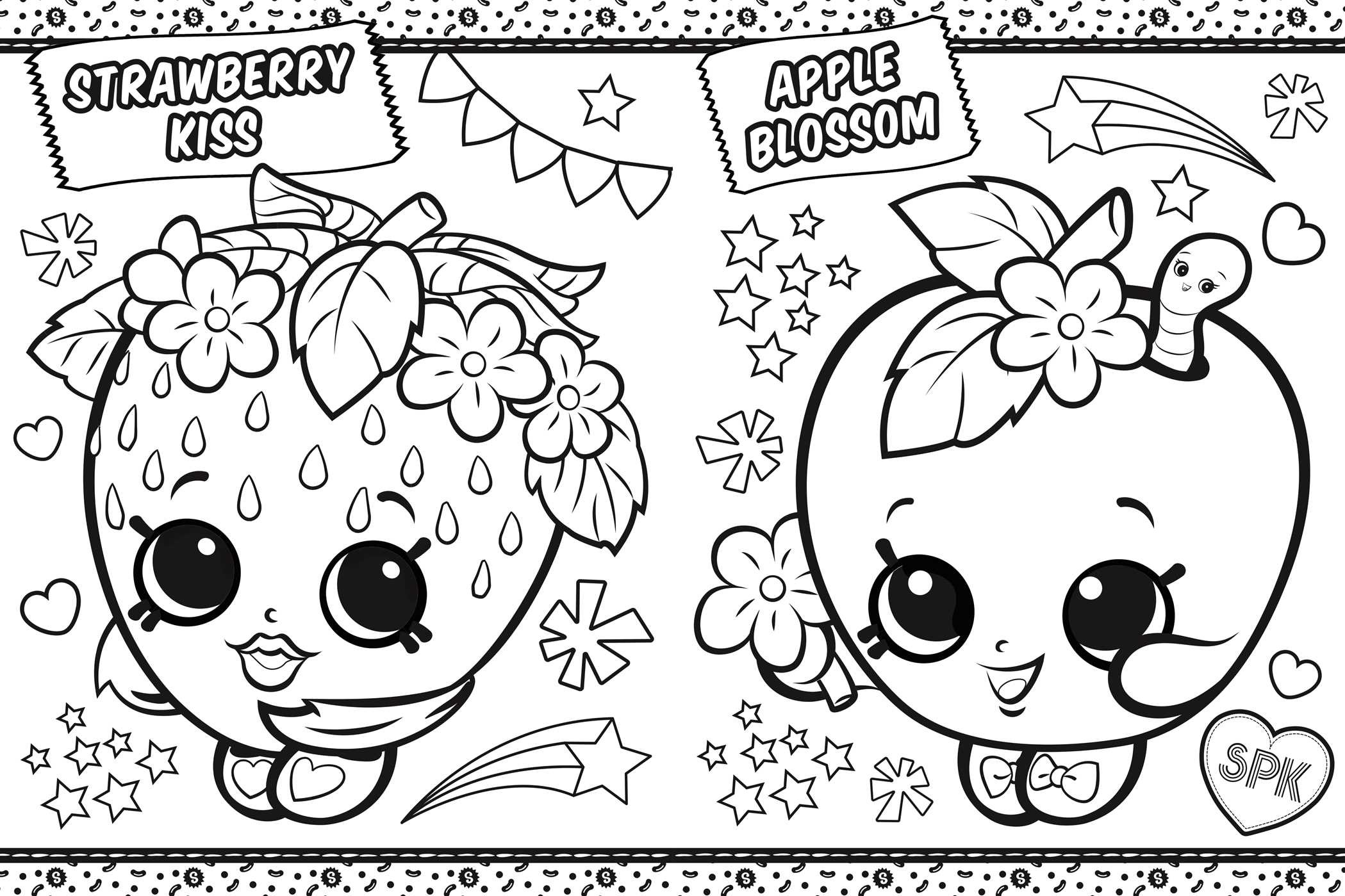 Shopkins coloring in shopville 9781499804973.in01