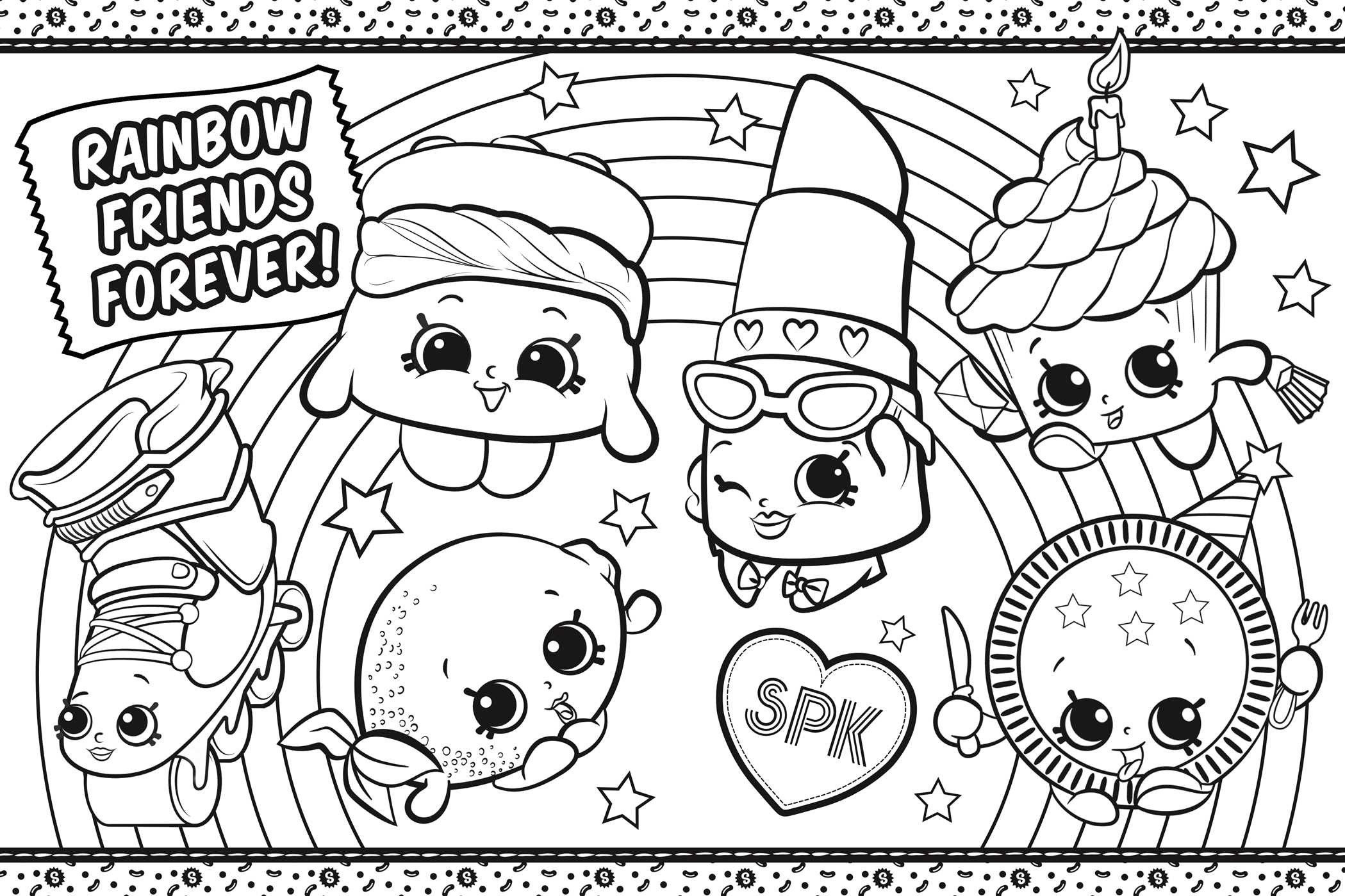 Shopkins coloring in shopville 9781499804973.in02