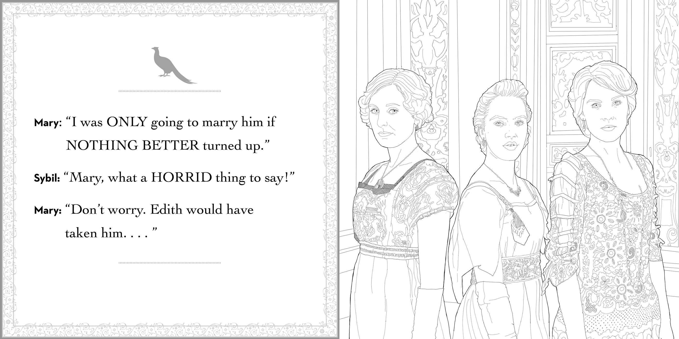 Downton Abbey Coloring Book | Book by Gwen Burns | Official ...