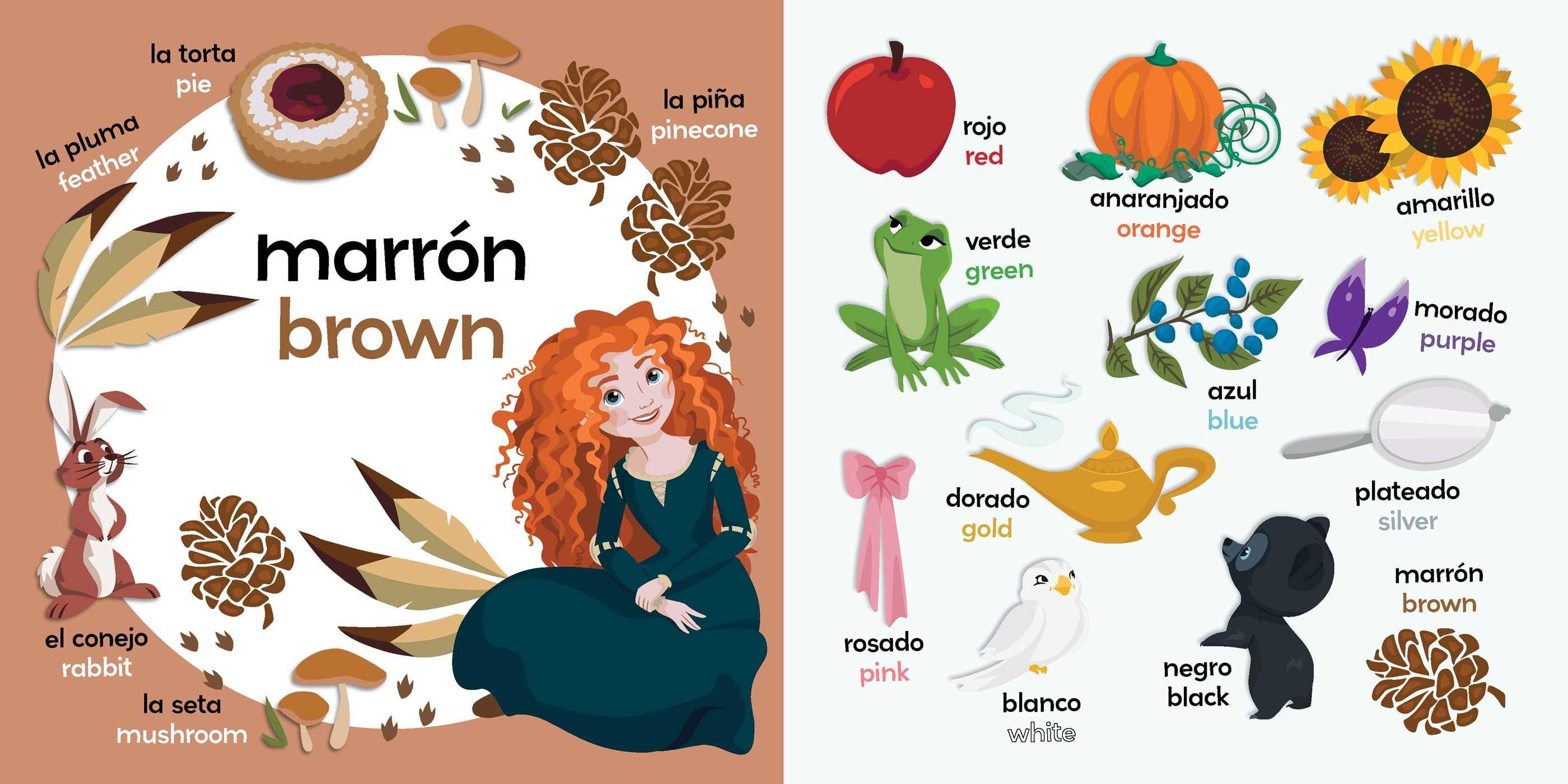 Colors bilingual disney princess 9781499807813.in03