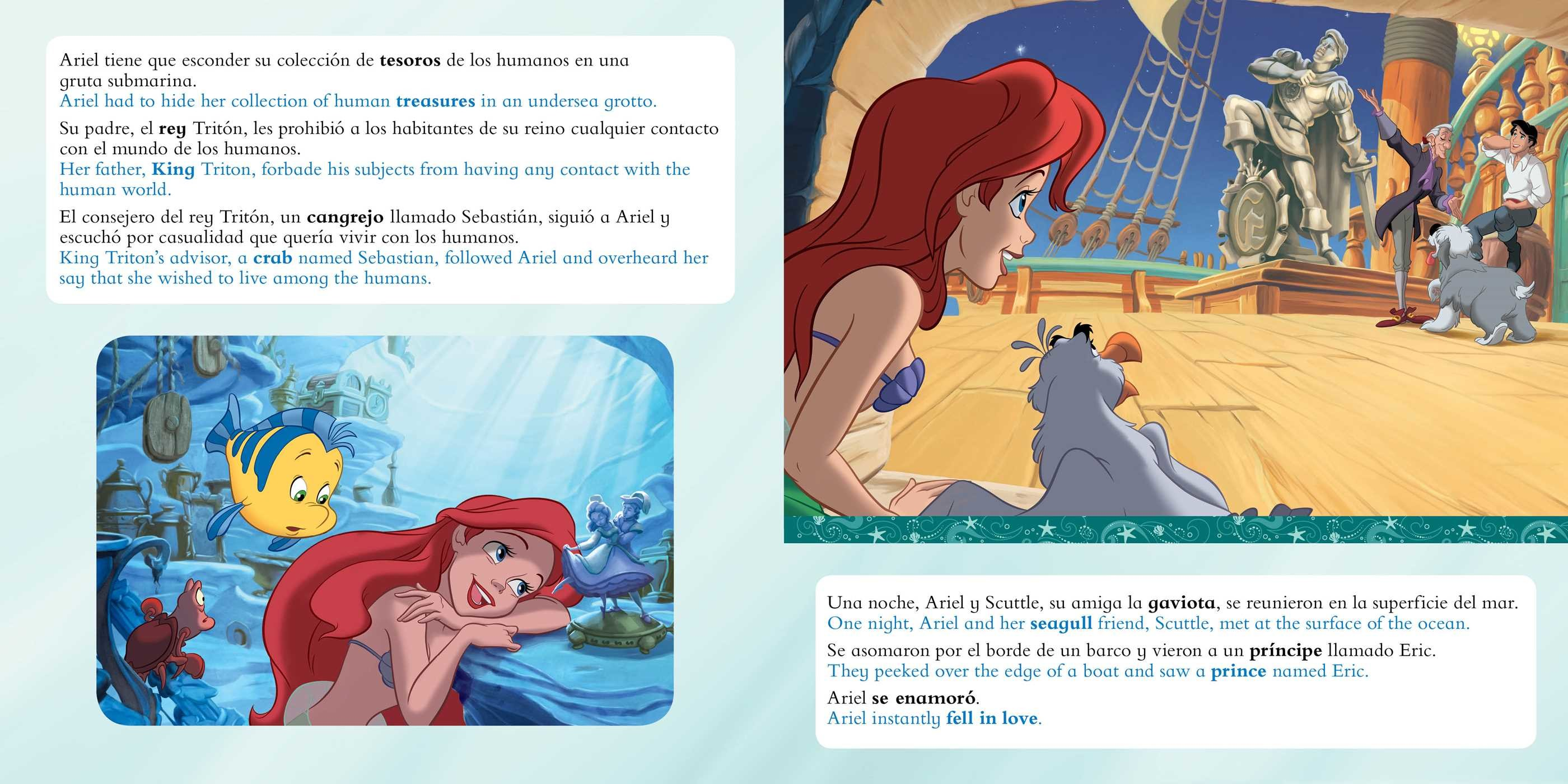 The little mermaid movie storybook libro basado en la pelicula english spanish disney 9781499807967.in01