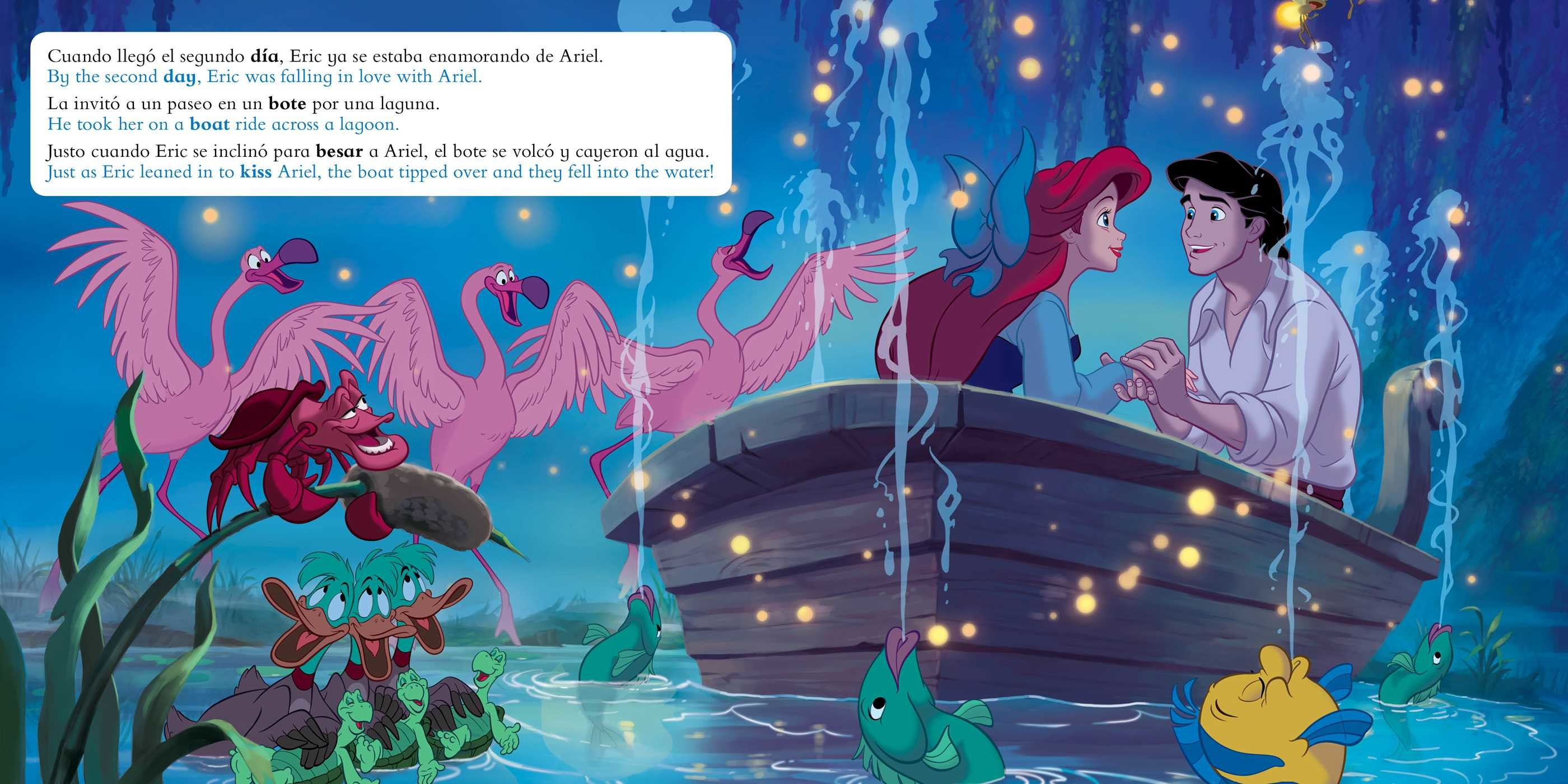 The little mermaid movie storybook libro basado en la pelicula english spanish disney 9781499807967.in03