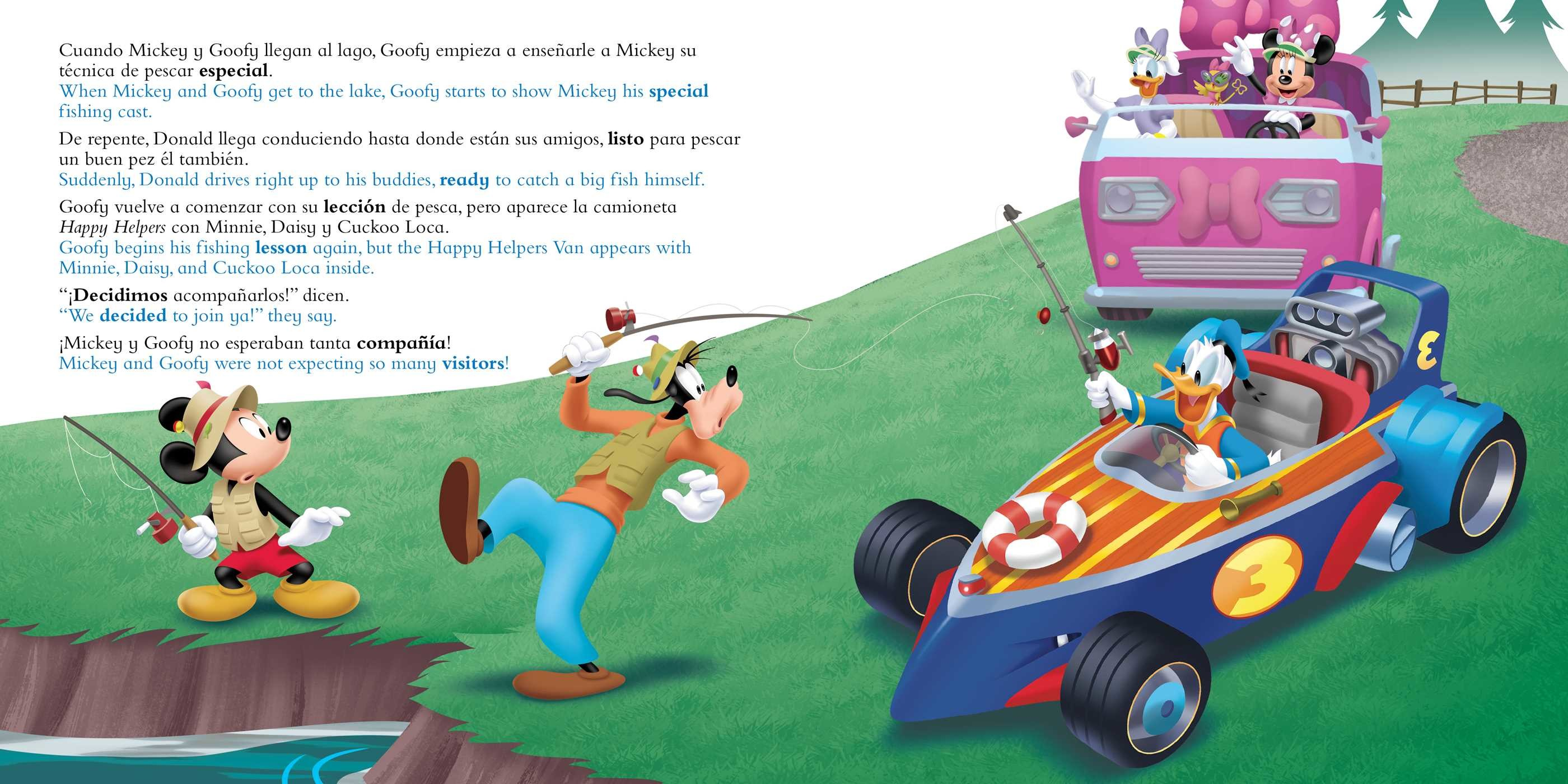 Catch that fish atrapa ese pez english spanish disney junior mickey and the roadster 9781499807974.in02
