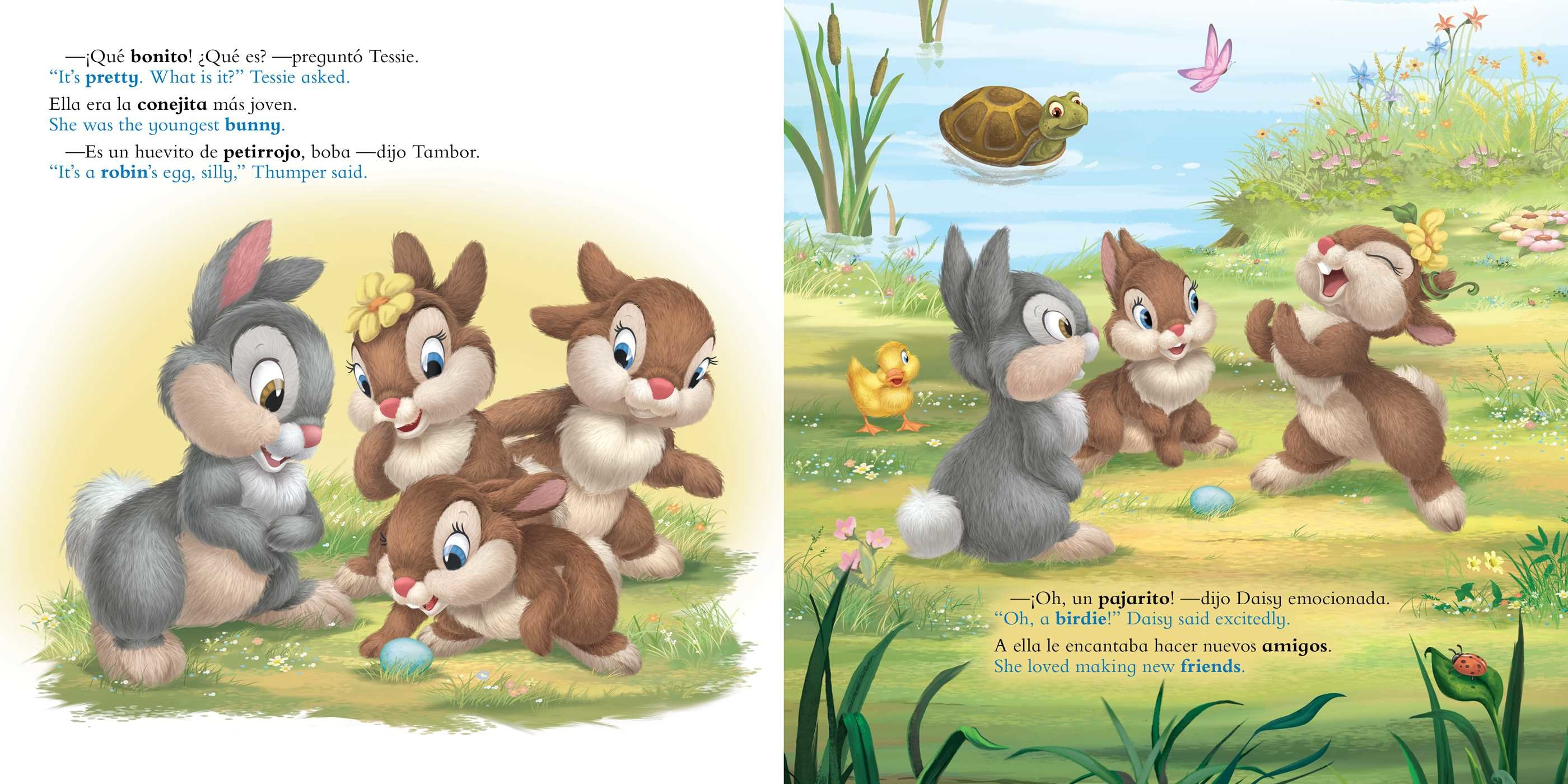 Thumper Finds an Egg / Tambor encuentra un huevito (English