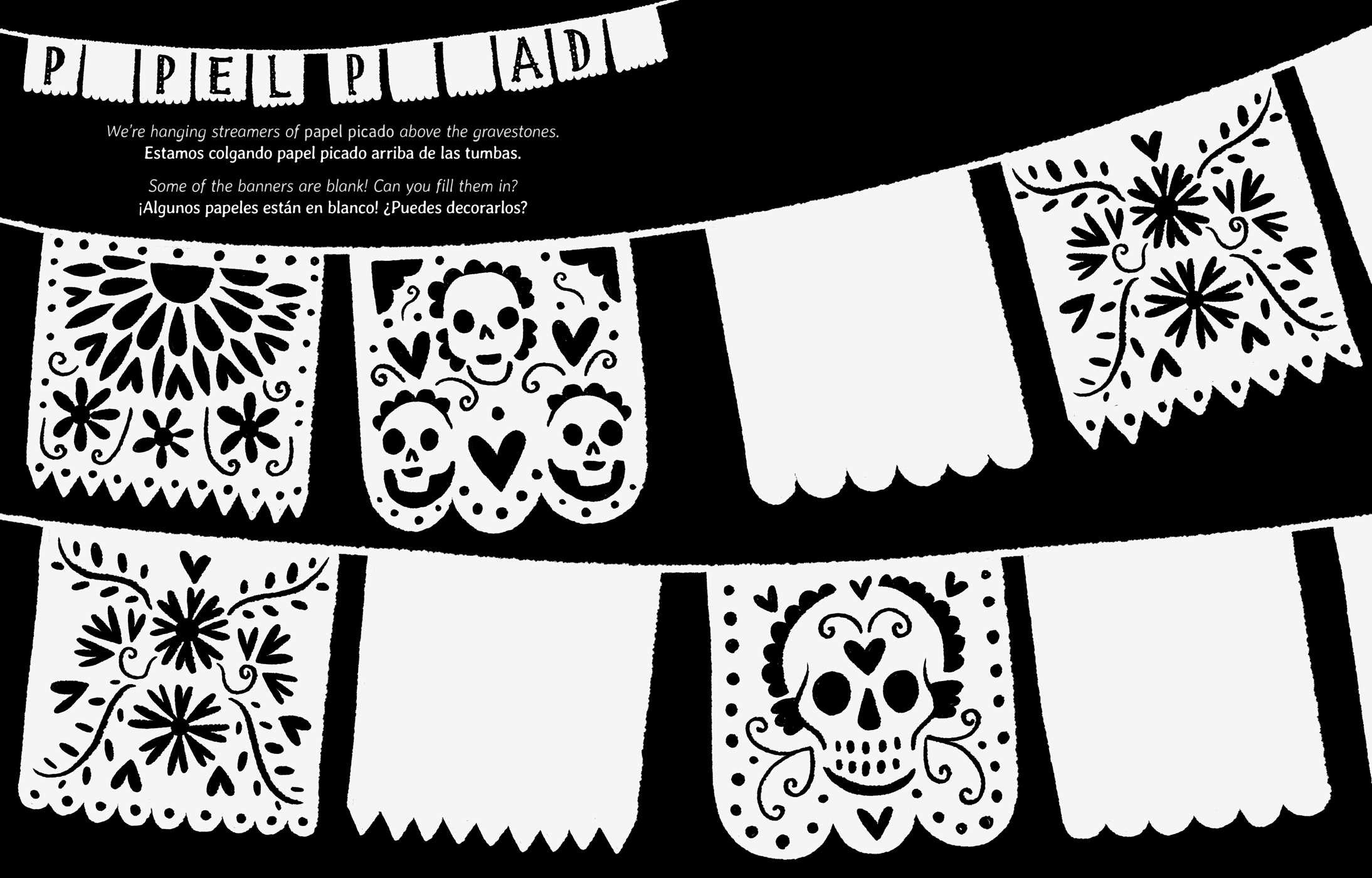 10 MORE Sugar Skull Day of the Dead Original Art Coloring Book | Etsy | 1400x2188