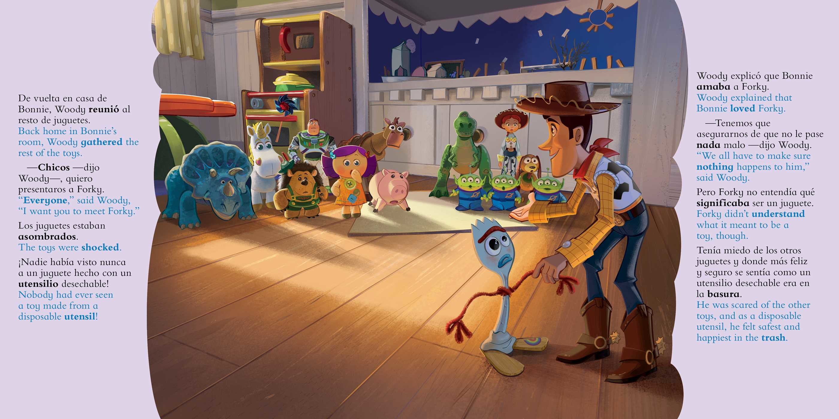 Disney/Pixar Toy Story 4: Movie Storybook / Libro basado en la película (English-Spanish)