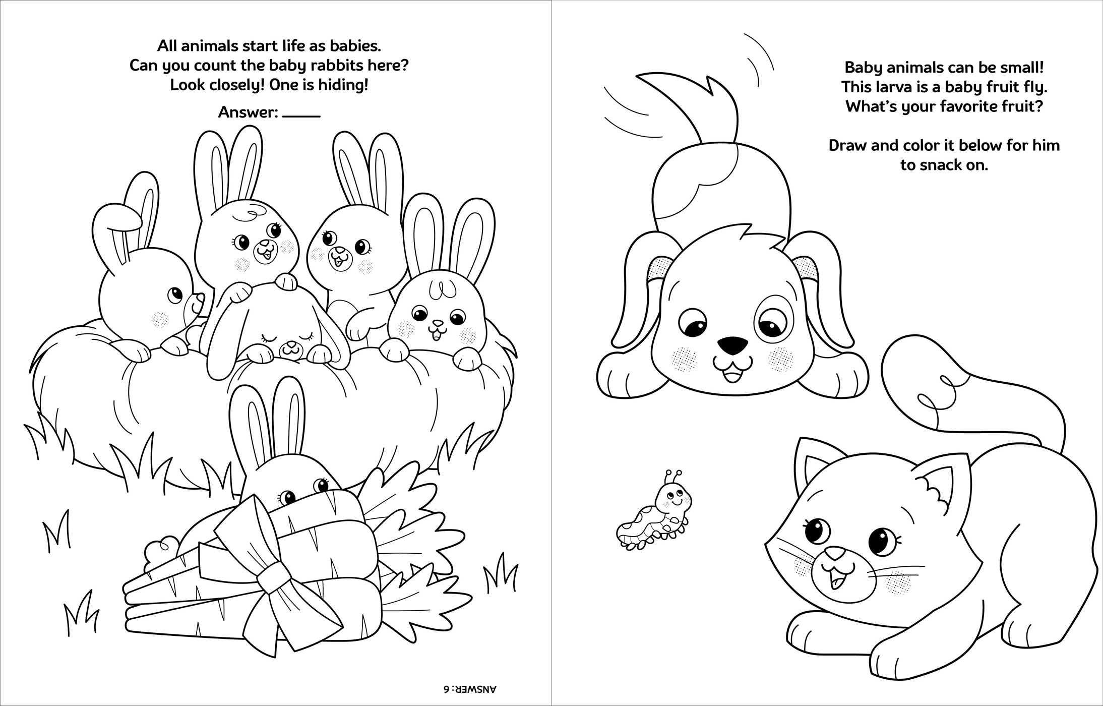 - Crayola Baby Animals: A Coloring & Activity Book Book By BuzzPop