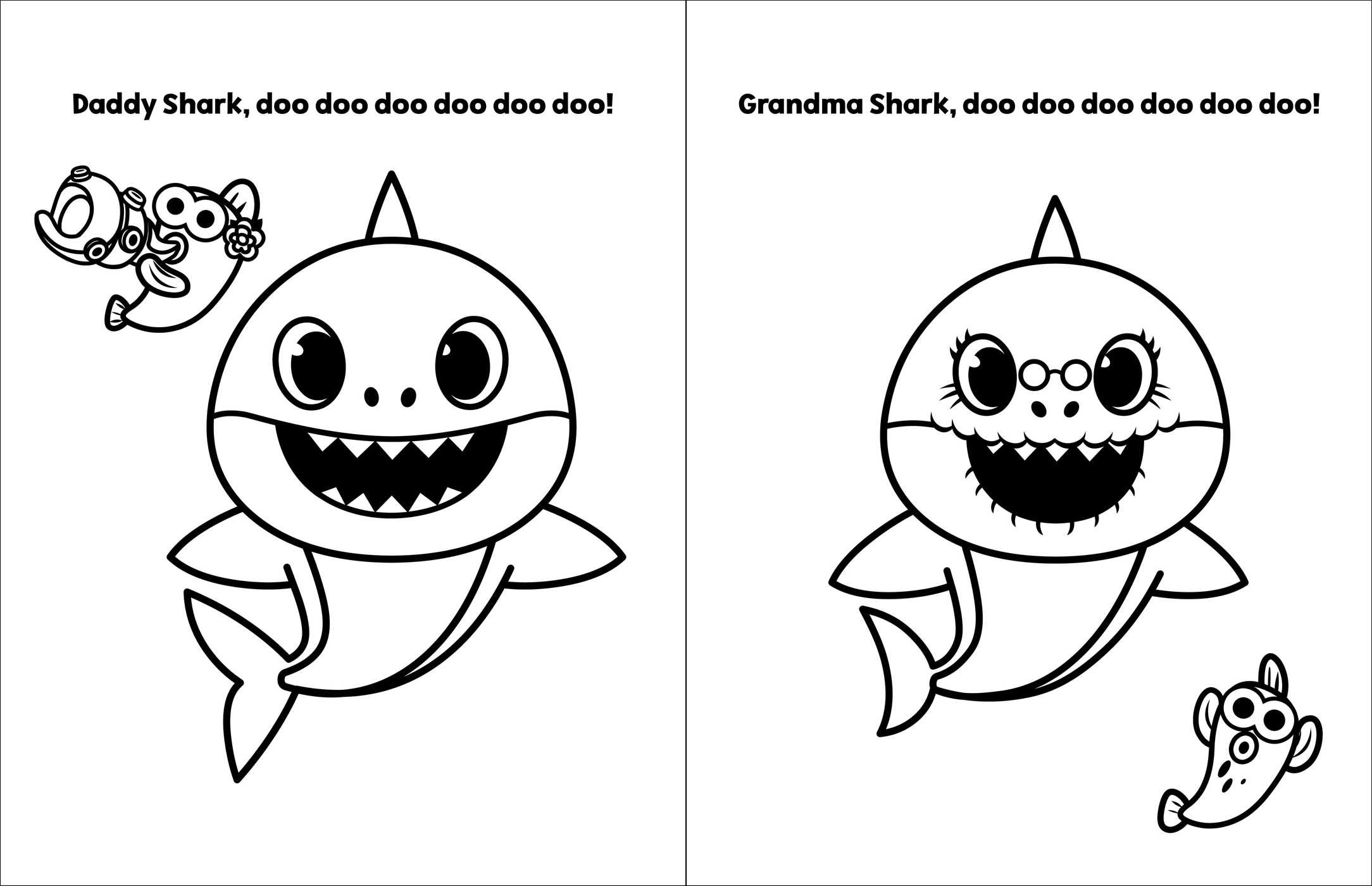 Baby Shark Coloring Page - childrencoloring.us