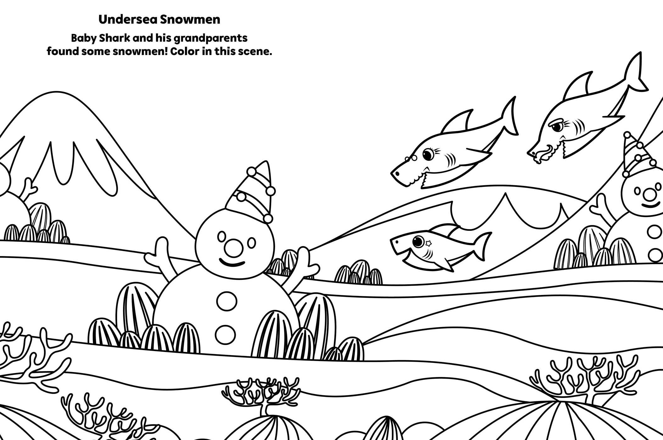 Pinkfong Baby Shark: A Jaw-some Christmas Coloring and ...