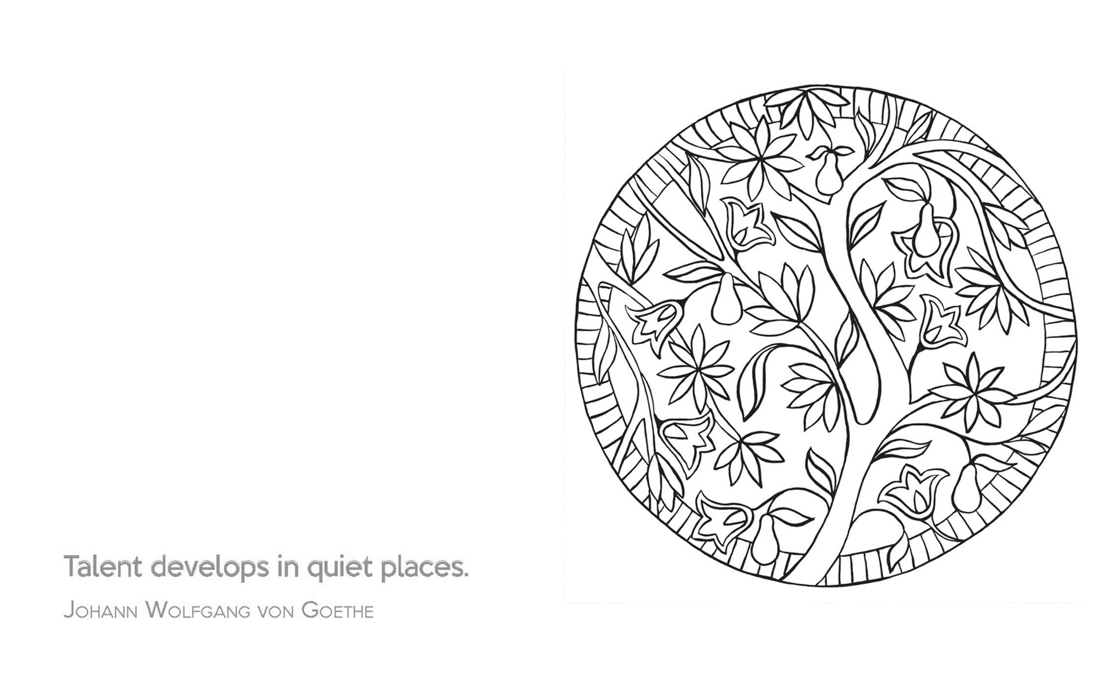 the little book of calm coloring 9781501137556in02 - Colouring Picture Of Book