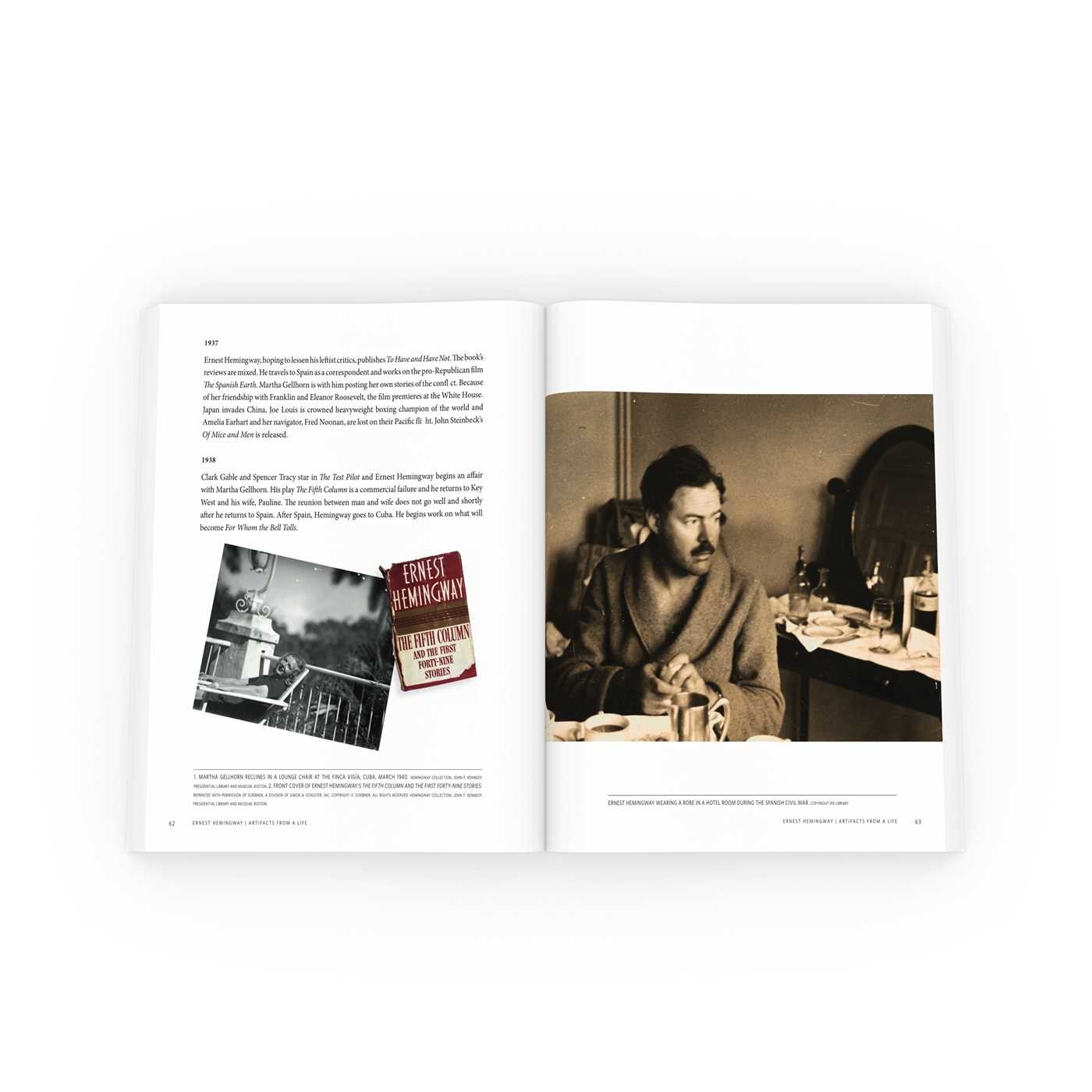 Ernest hemingway artifacts from a life 9781501142086.in18