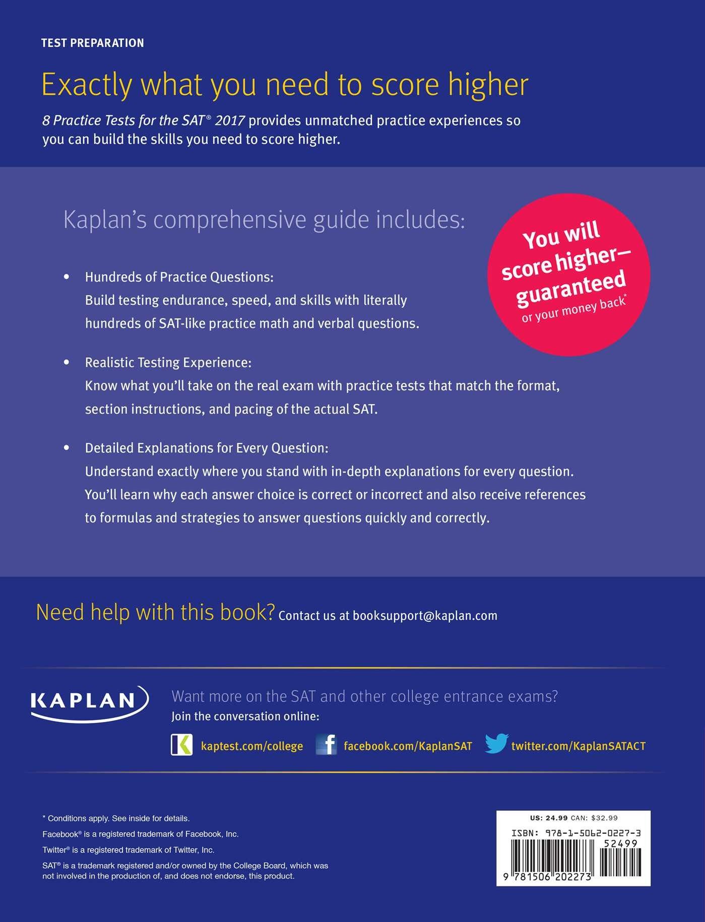 8 practice tests for the sat 2017 book by kaplan test prep kaplan 8 practice tests for the sat 2017 978150620227301 fandeluxe Images