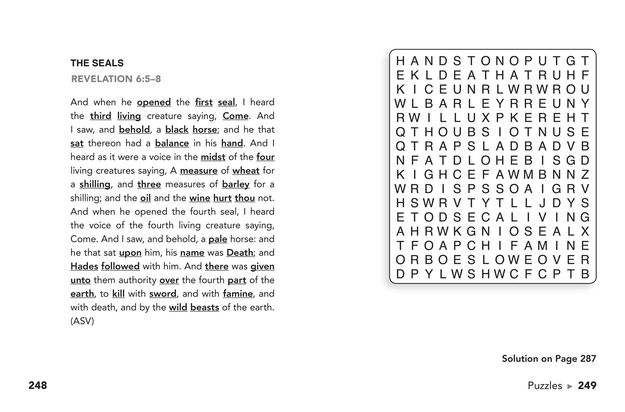 It's just a photo of Sassy Large Print Bible Word Search Puzzles Printable