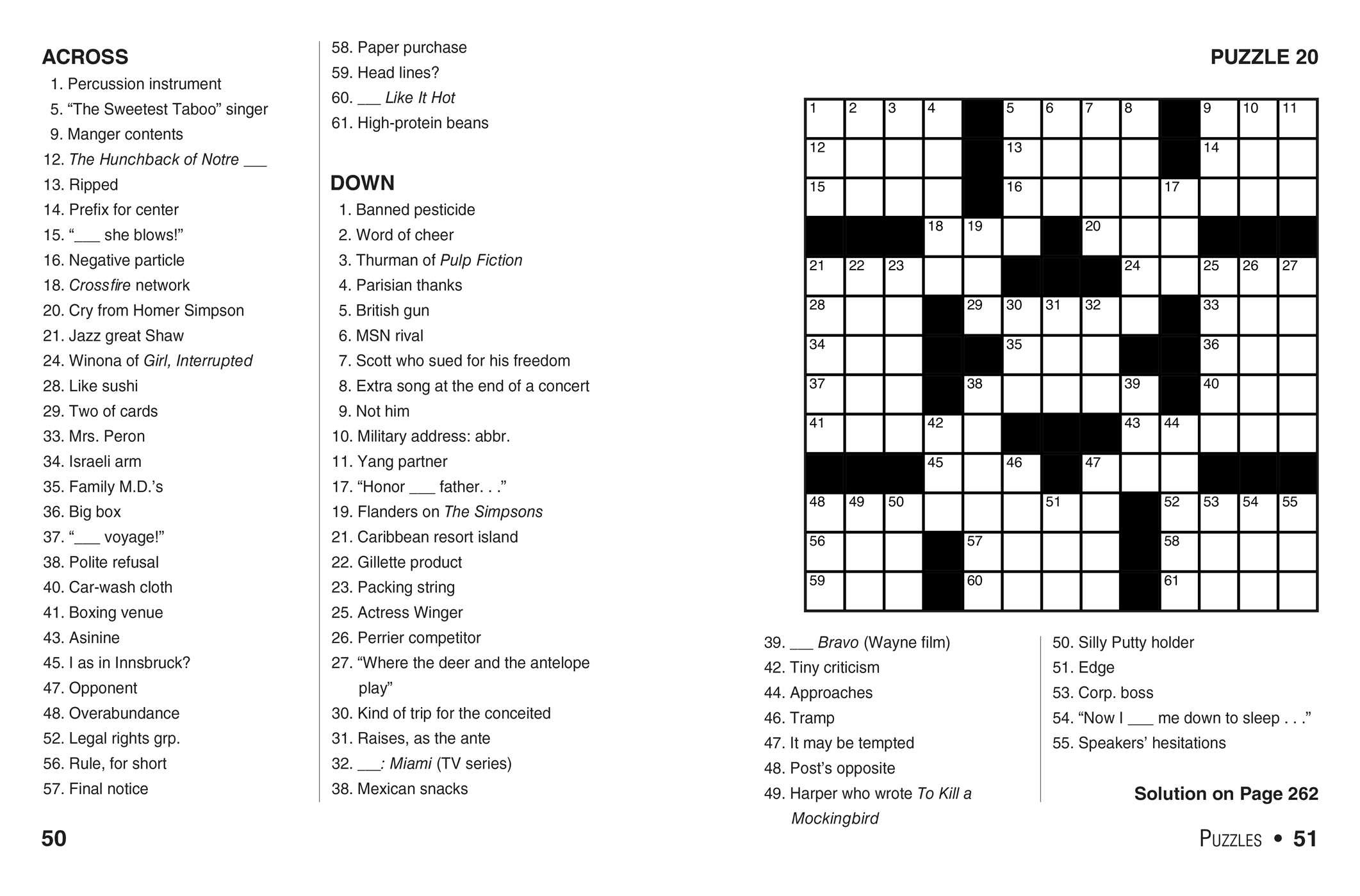 This is an image of Playful Easy Crosswords Printable