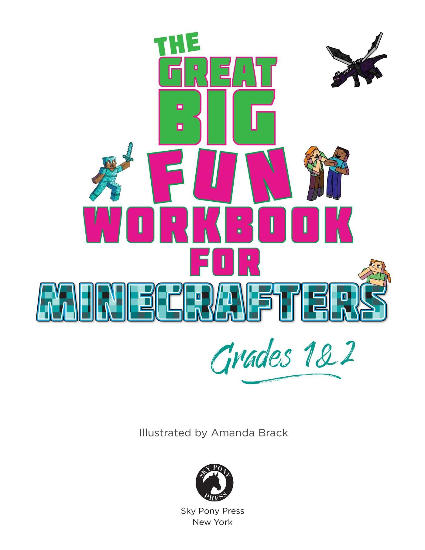 The Best and Biggest Fun Workbook for Minecrafters Grades 1