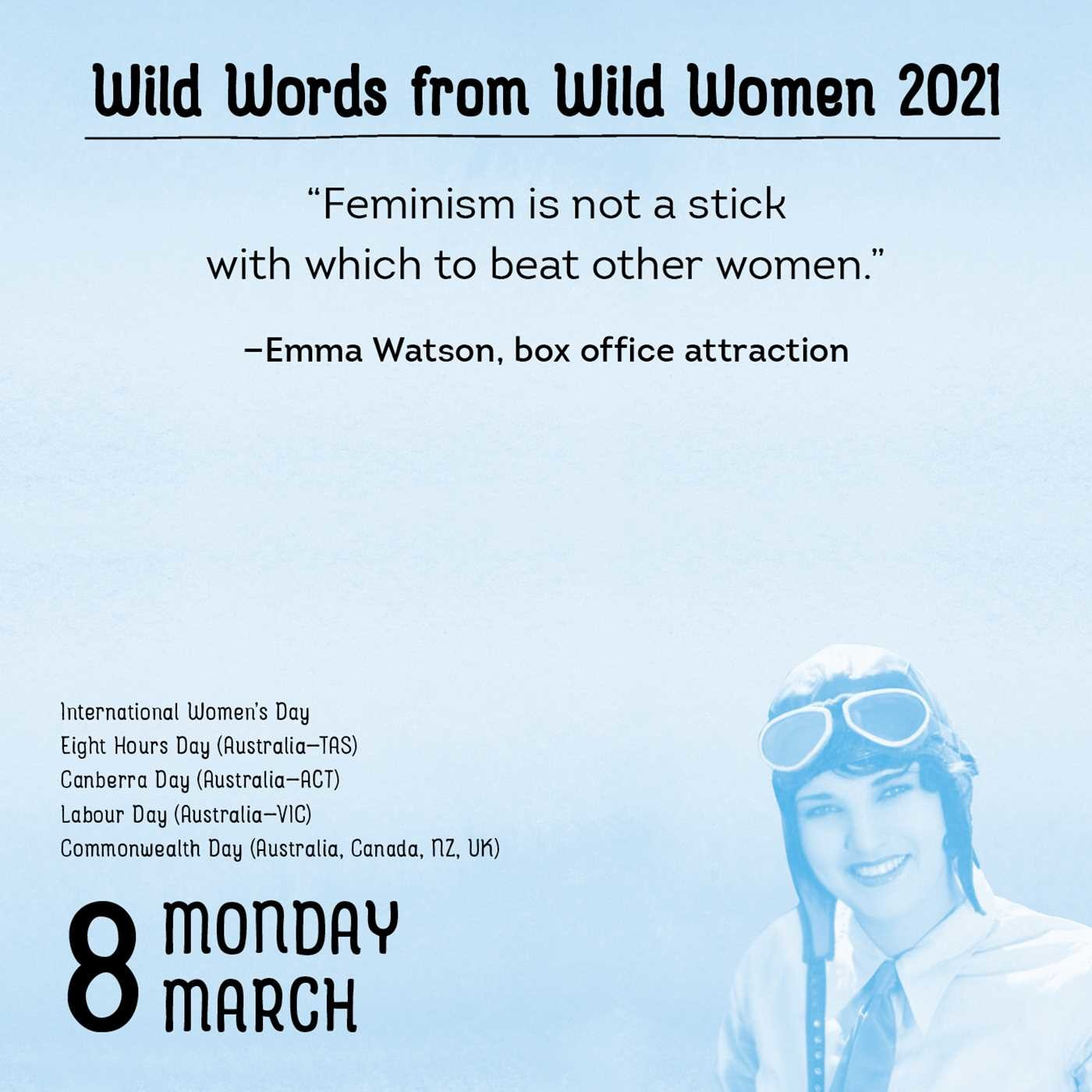 Wild Words from Wild Women 2020 Day-to-Day Calendar