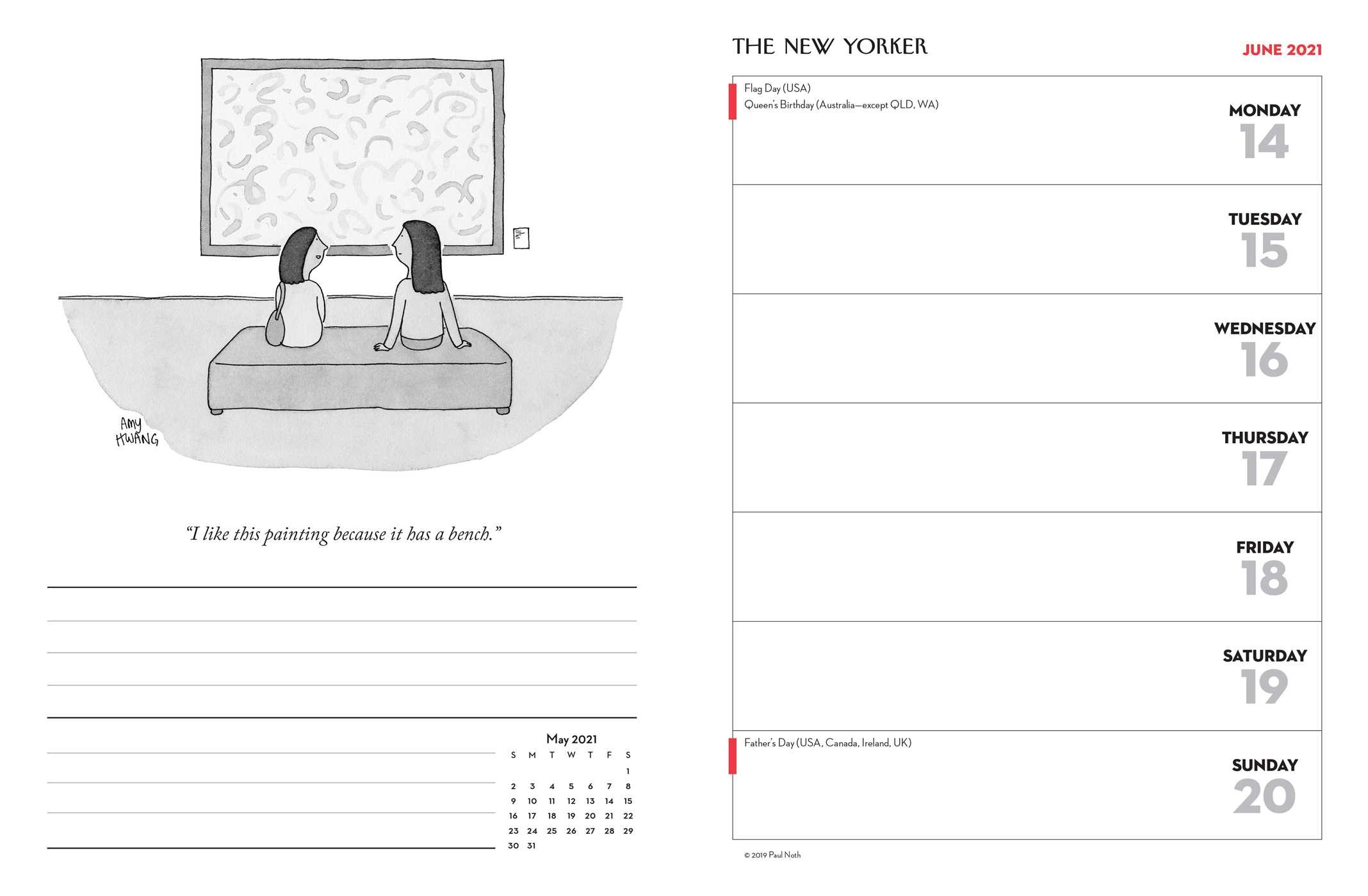 Cartoons from The New Yorker 16-Month 2020-2021 Weekly ...