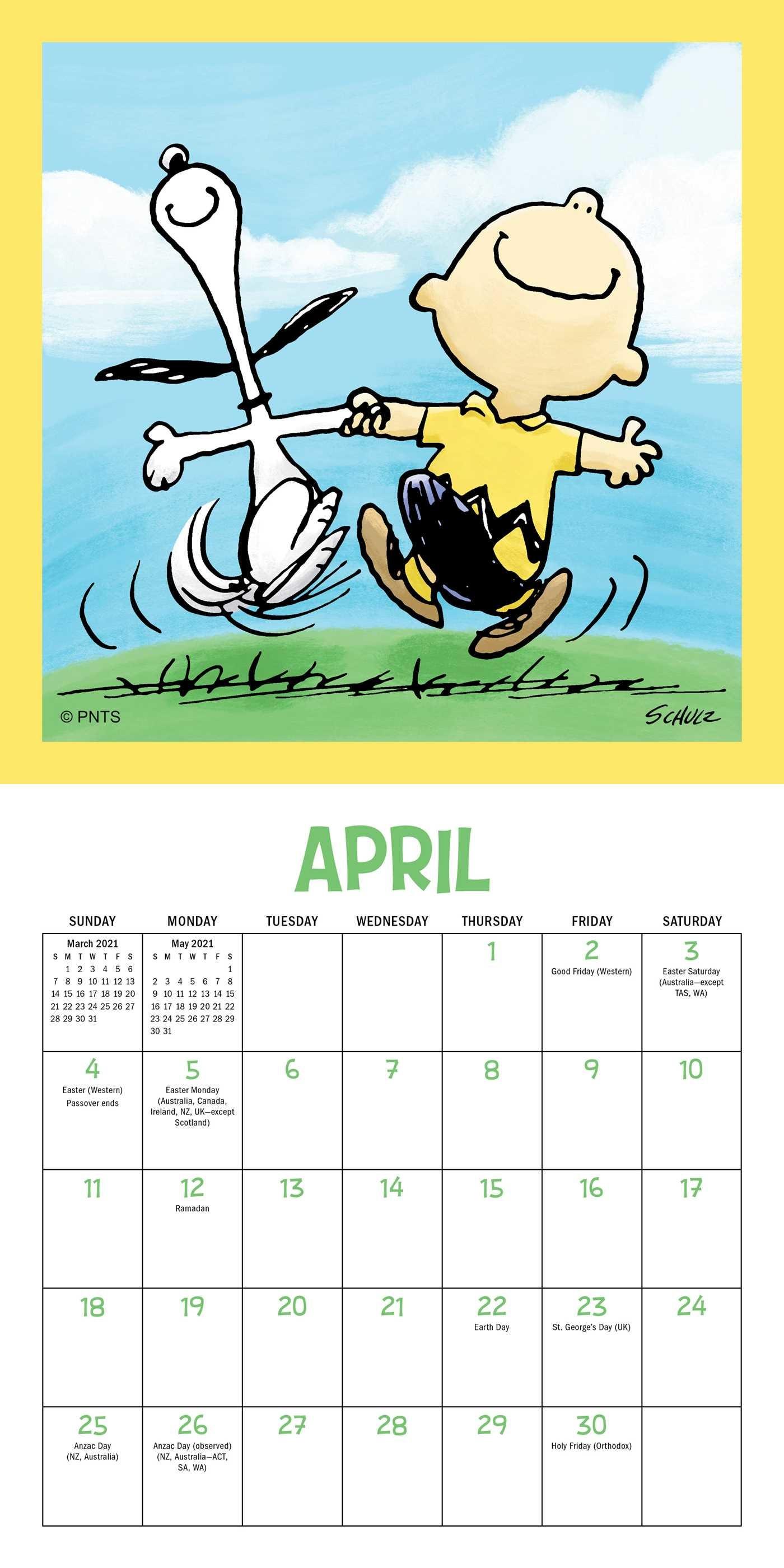 Peanuts 2021 Calendar | Printable March