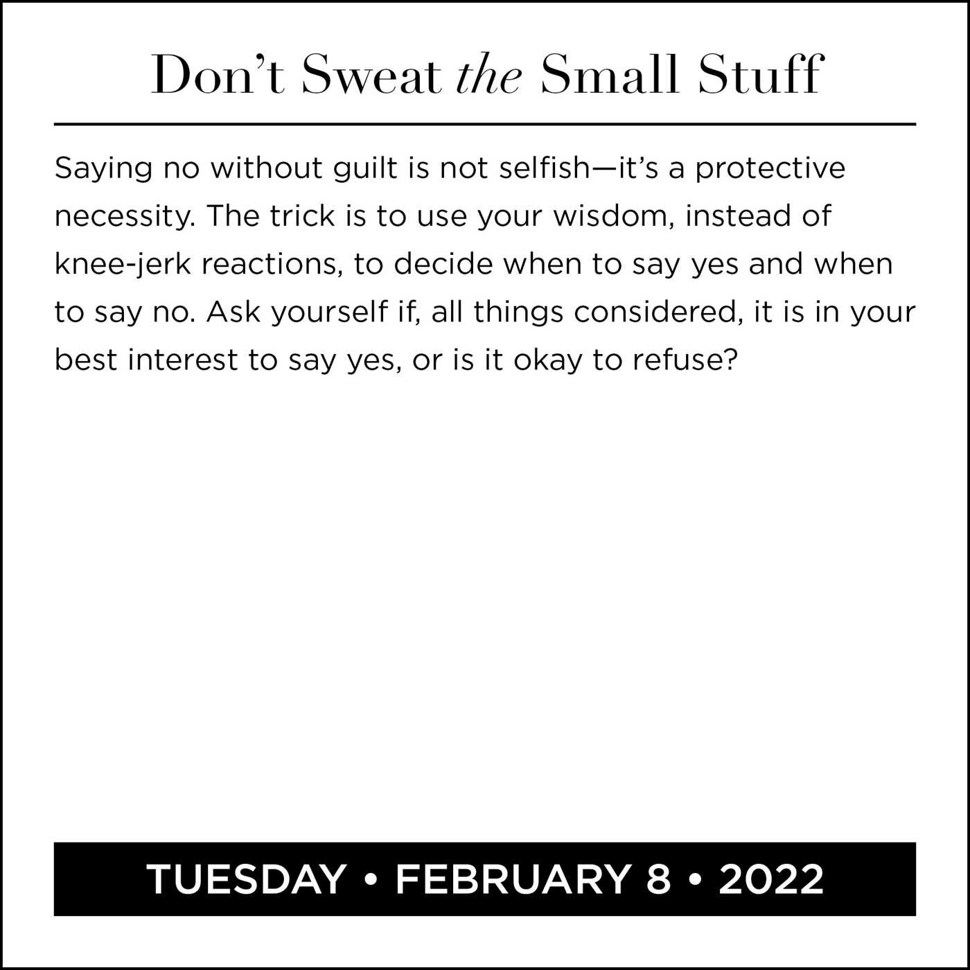 2022 Small Calendar.Don T Sweat The Small Stuff 2022 Day To Day Calendar Book Summary Video Official Publisher Page Simon Schuster